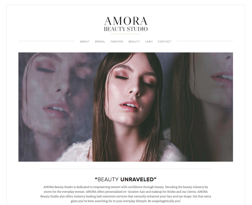 AMORA - Beauty Studio Website