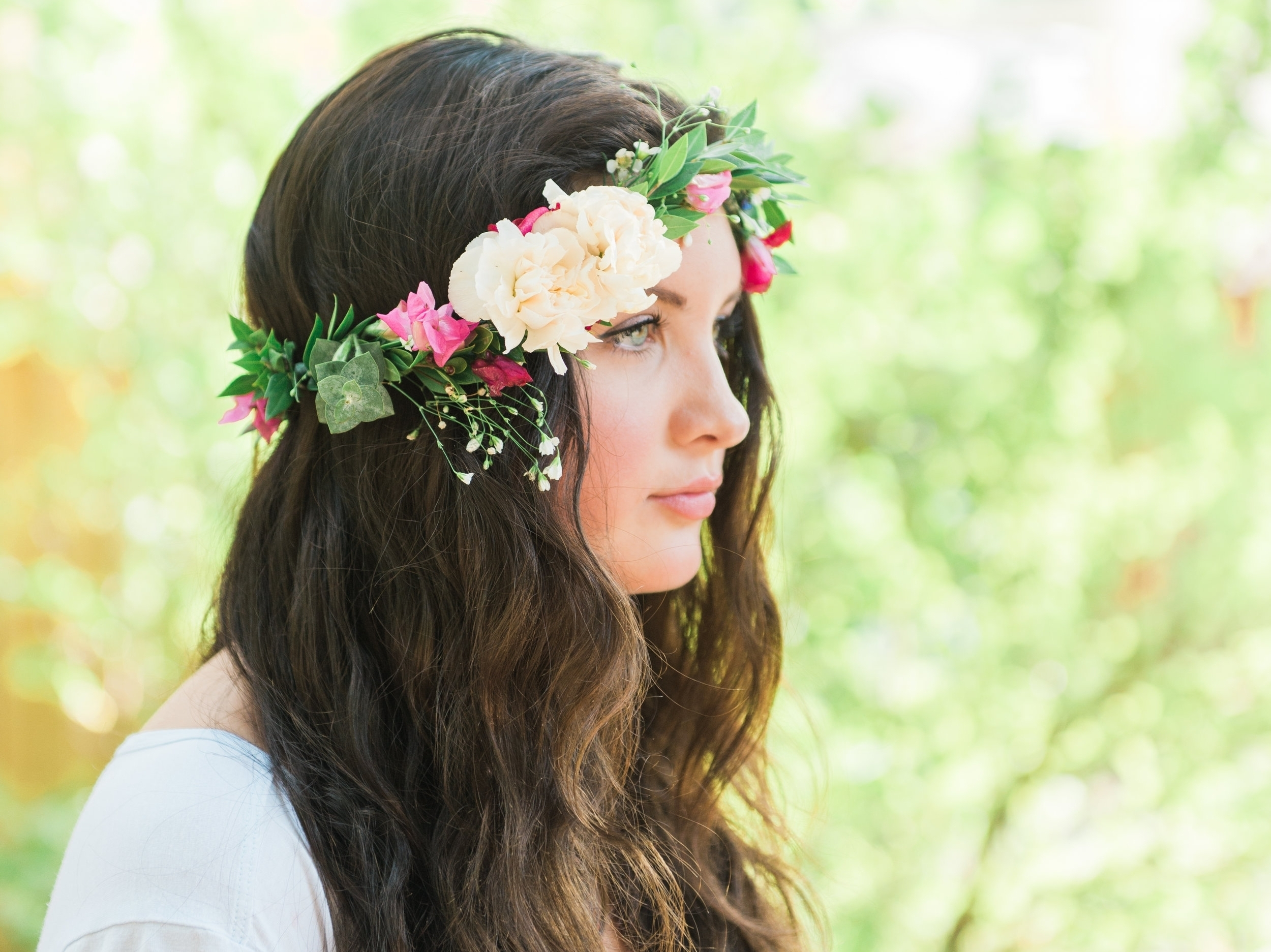 Organic flower Crown