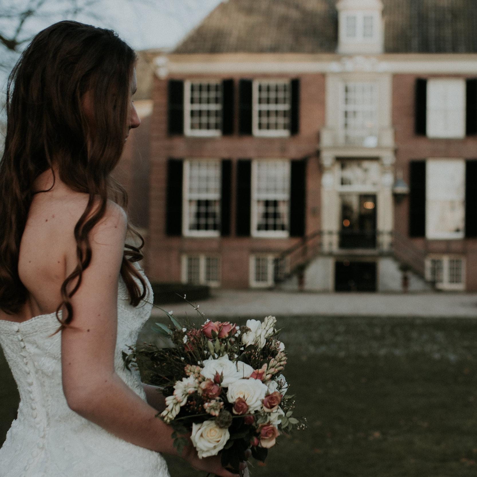 Romantic bridal bouquet castle - Daisy & Bird floral design