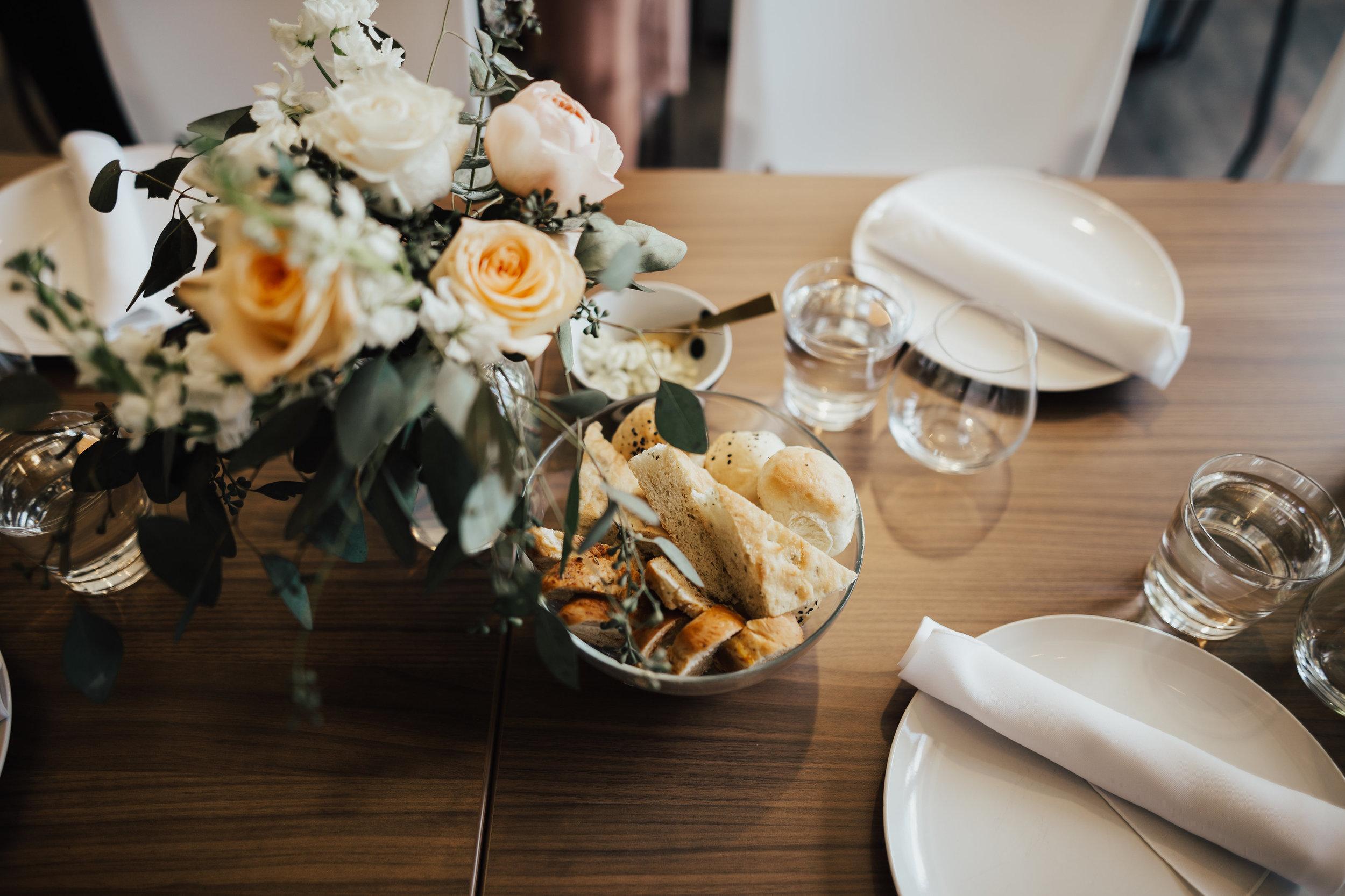 Centerpiece wedding reception