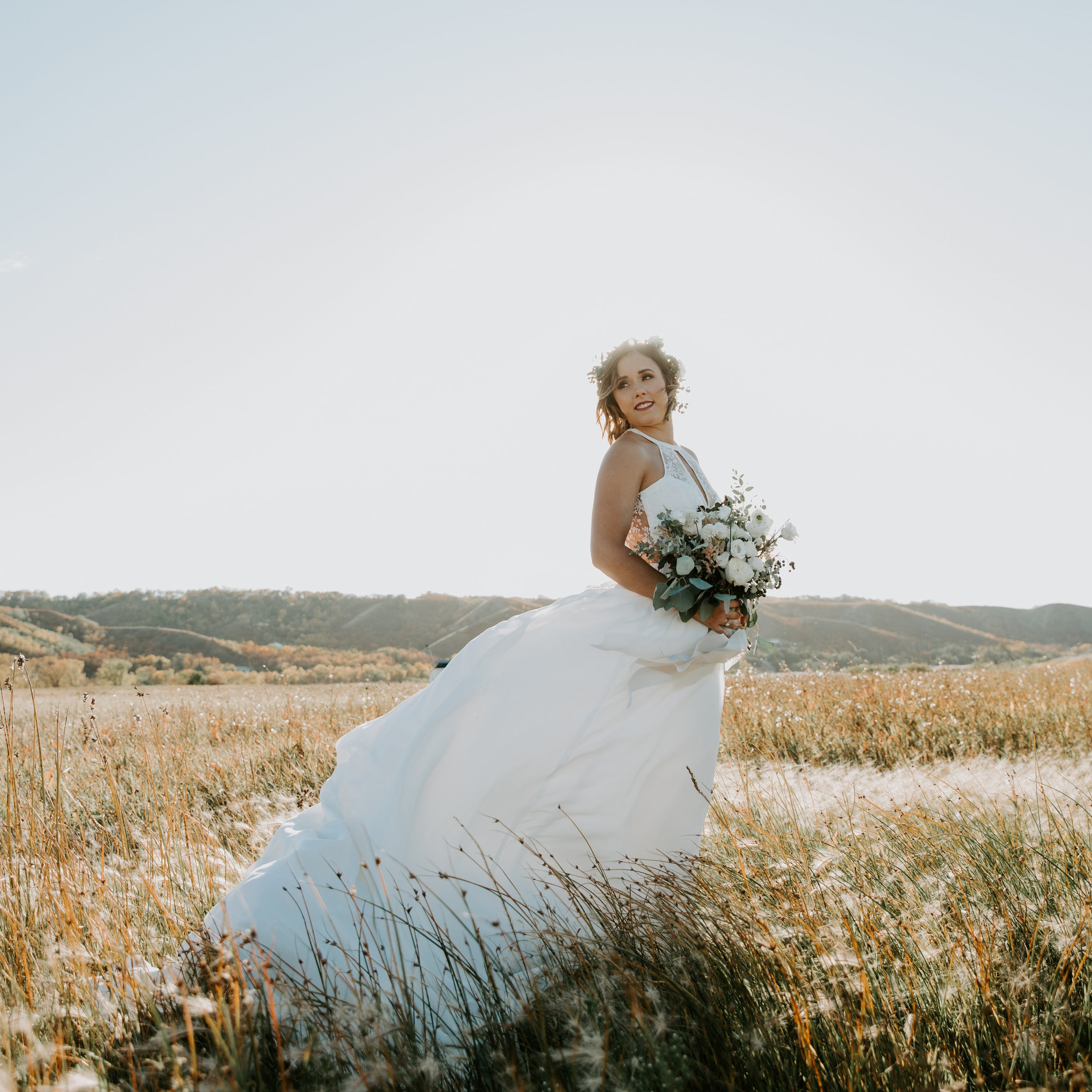 Bride bouquet natural