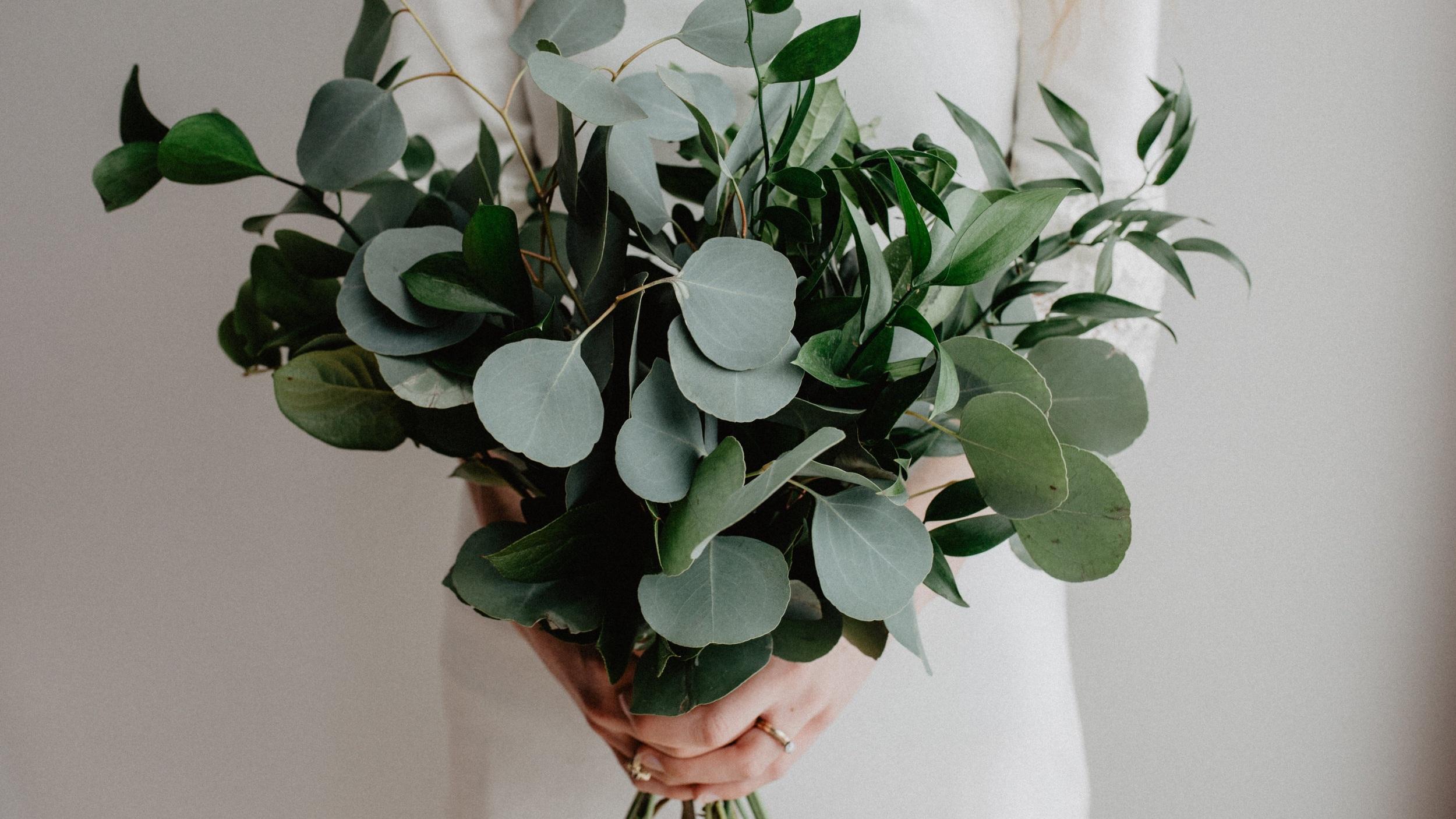 Boho+greenery+bouquet