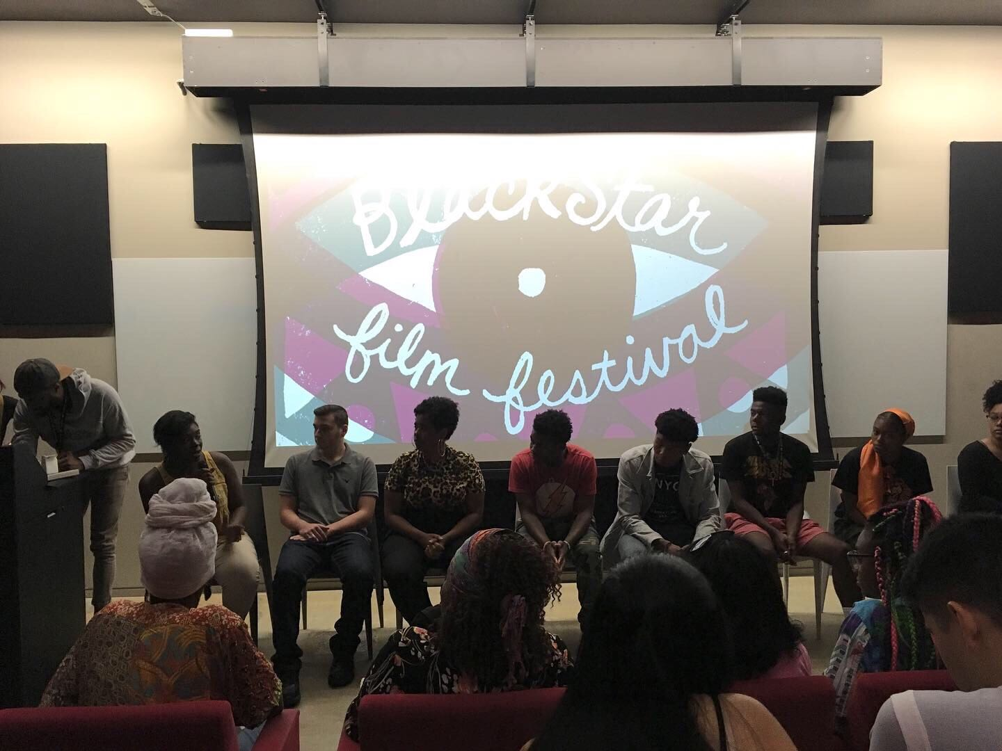 Panel with youth filmmakers