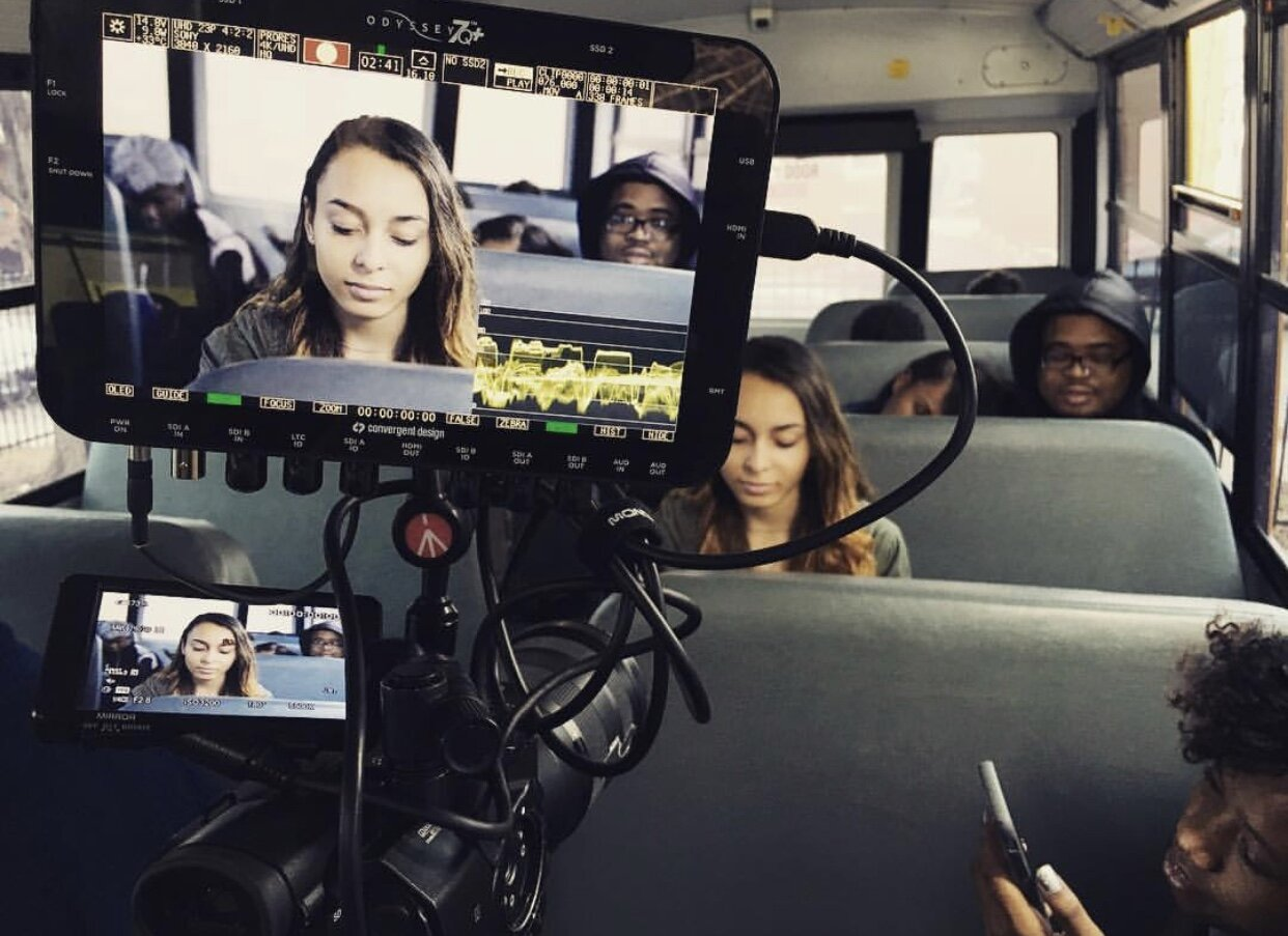 Destiny on set for the CSX train safety commercial.