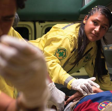 Mimi at work as a volunteer EMT.