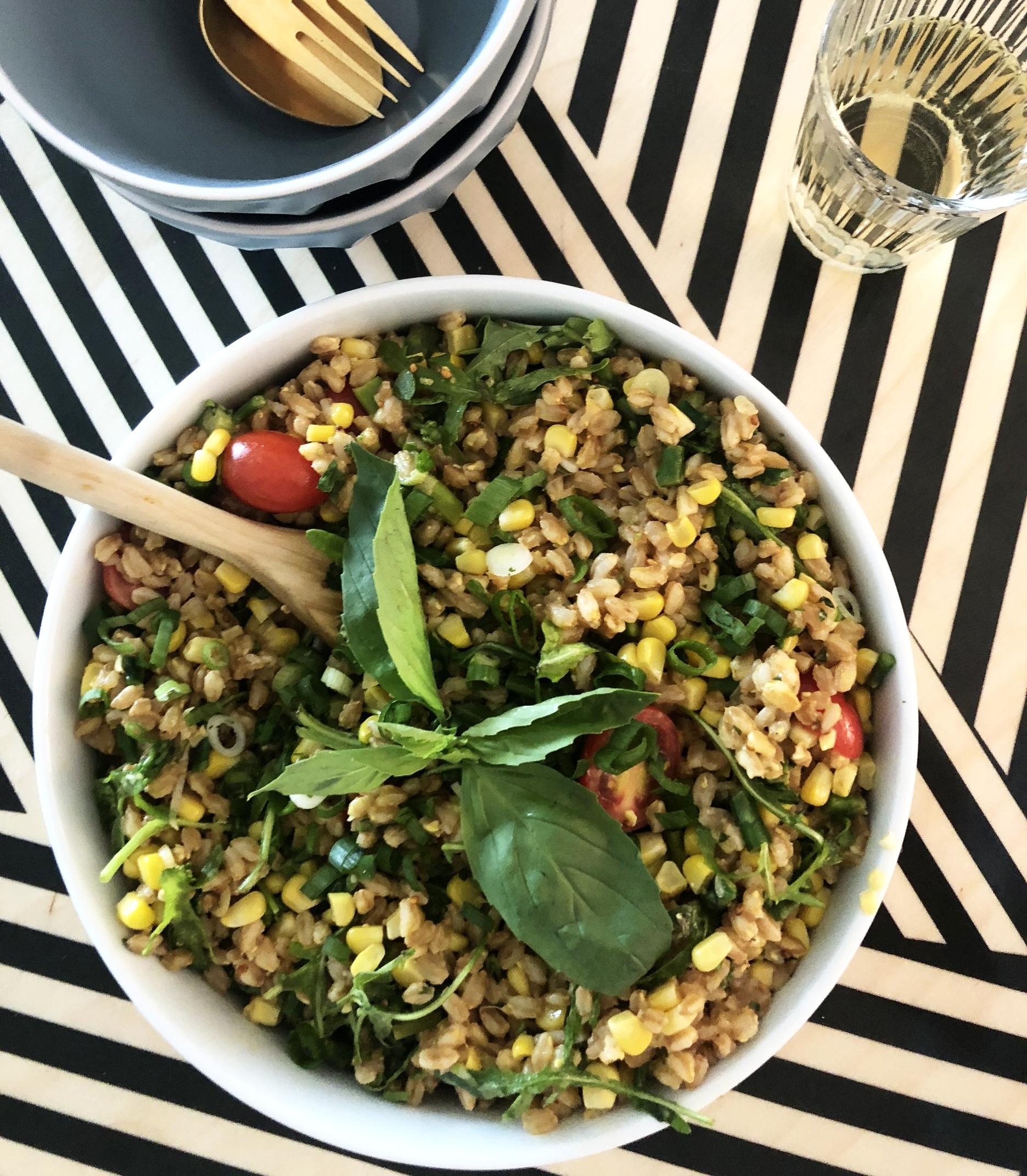 Warm Farro Salad -