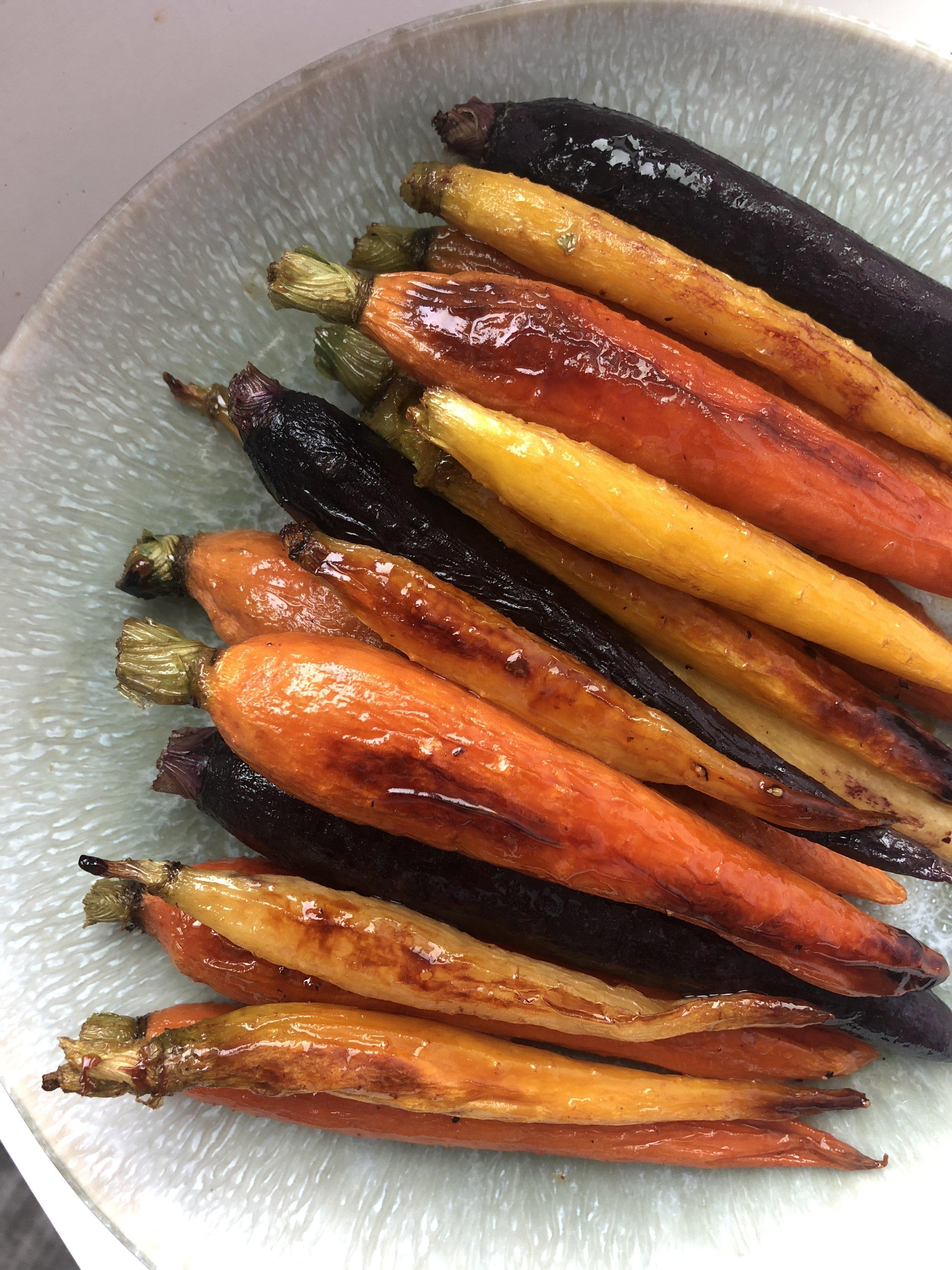 Orange Maple Roasted Carrots -