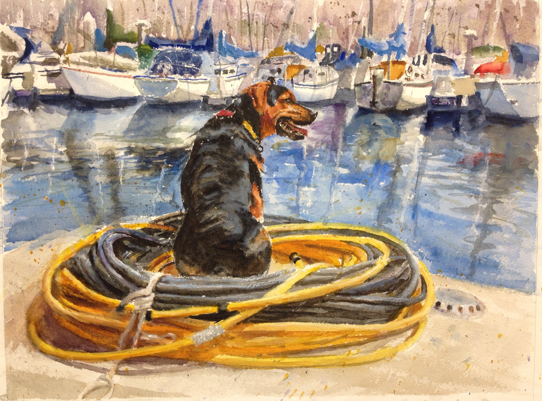 Commissioned watercolor by George Paliotto