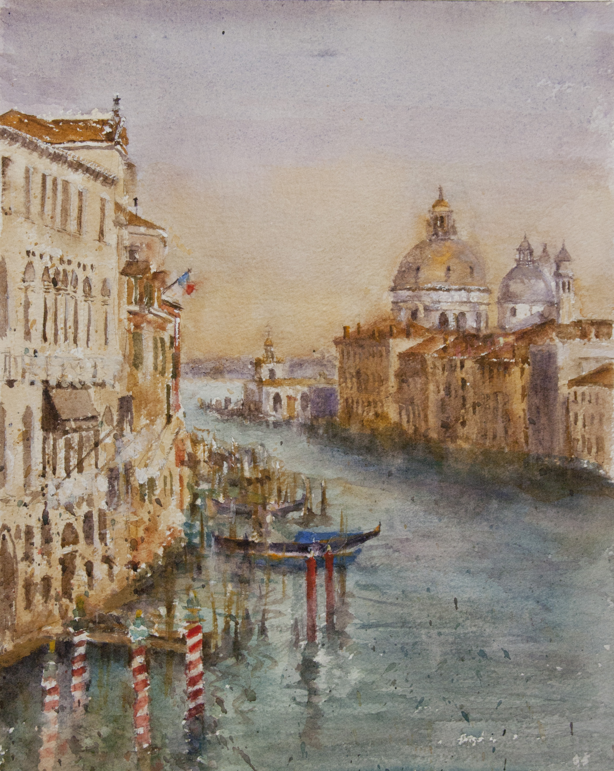 """The Grand Canal""     watercolor on paper,  by George Paliotto"
