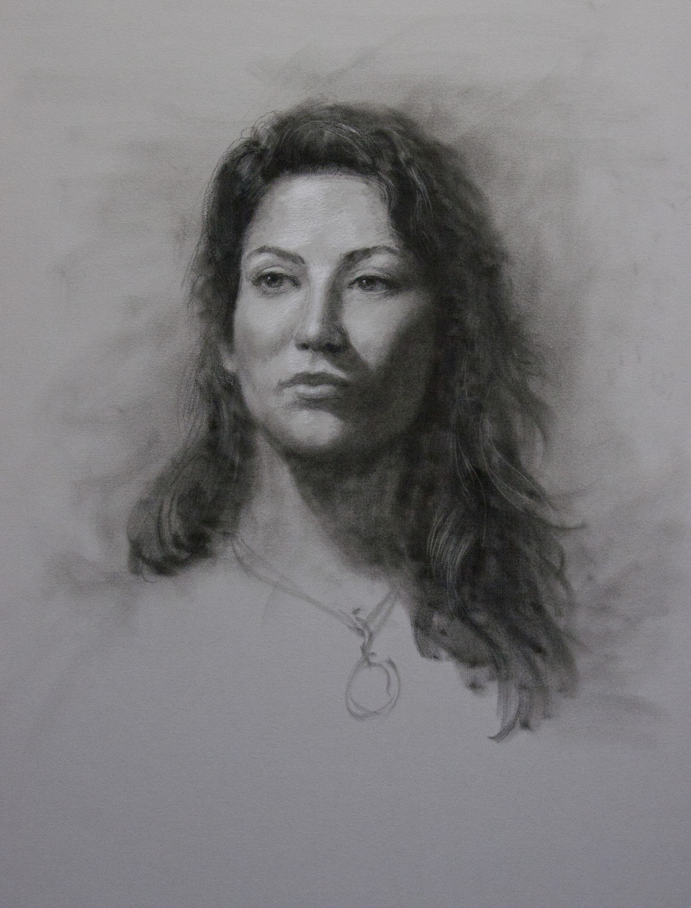 Class Demonstration: charcoal on toned paper by George Paliotto