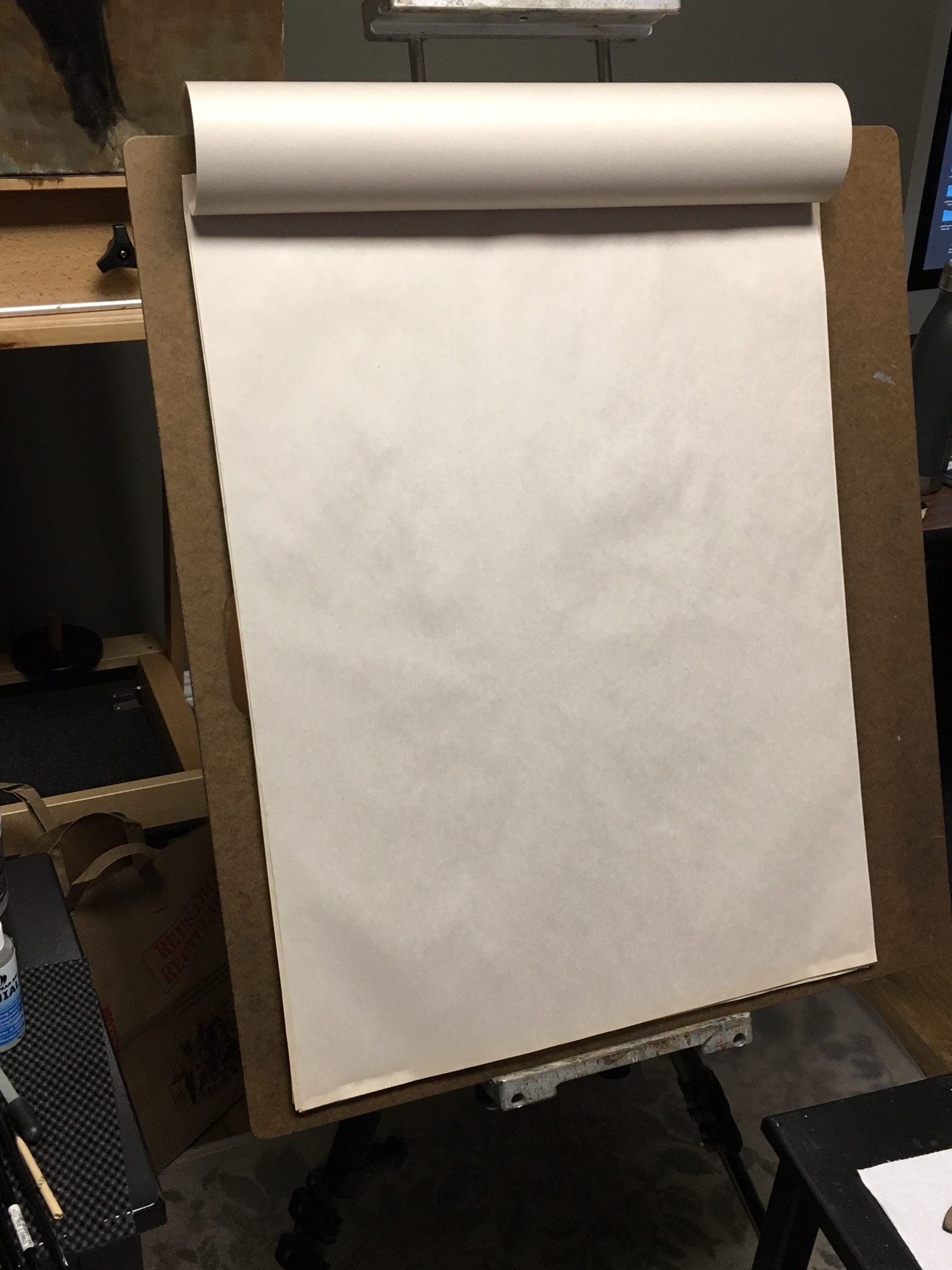 "Drawing board with 18""x 24"" smooth newprint"