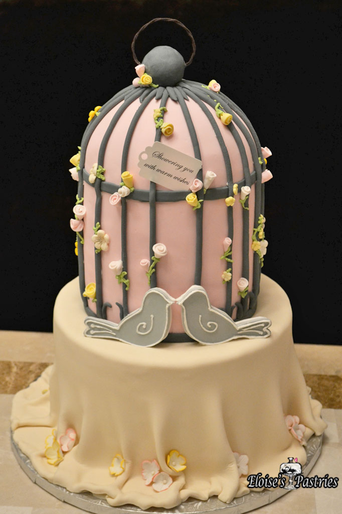 Bird Cage Bridal Shower Cake