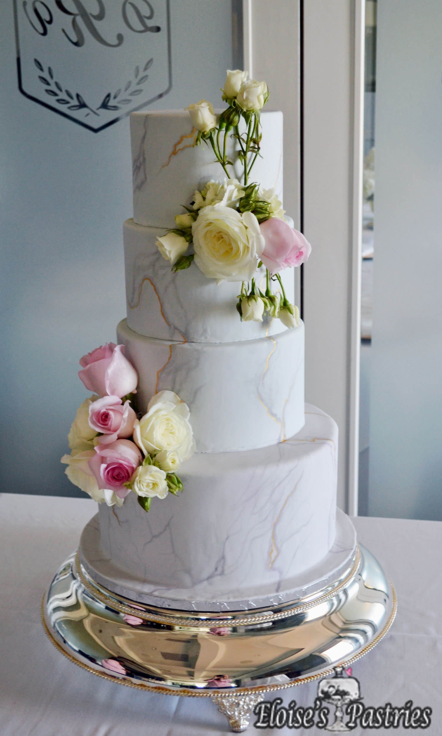 Floral Marble Cake