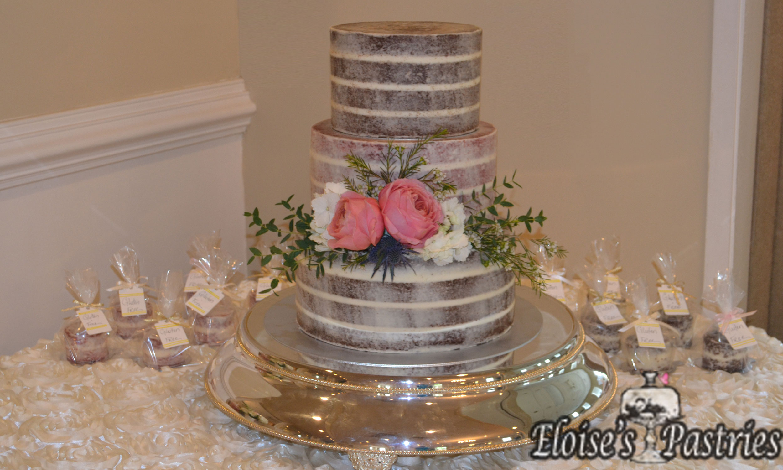 Naked Cake with G-F Baby Cakelettes
