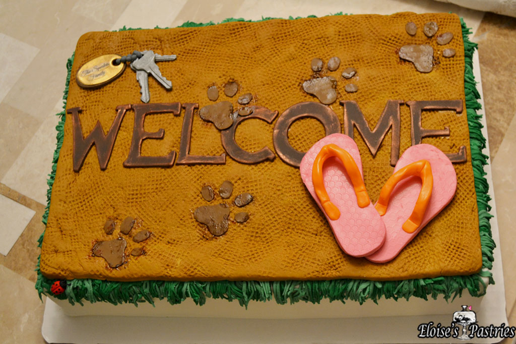"""Welcome Home"" Cake"