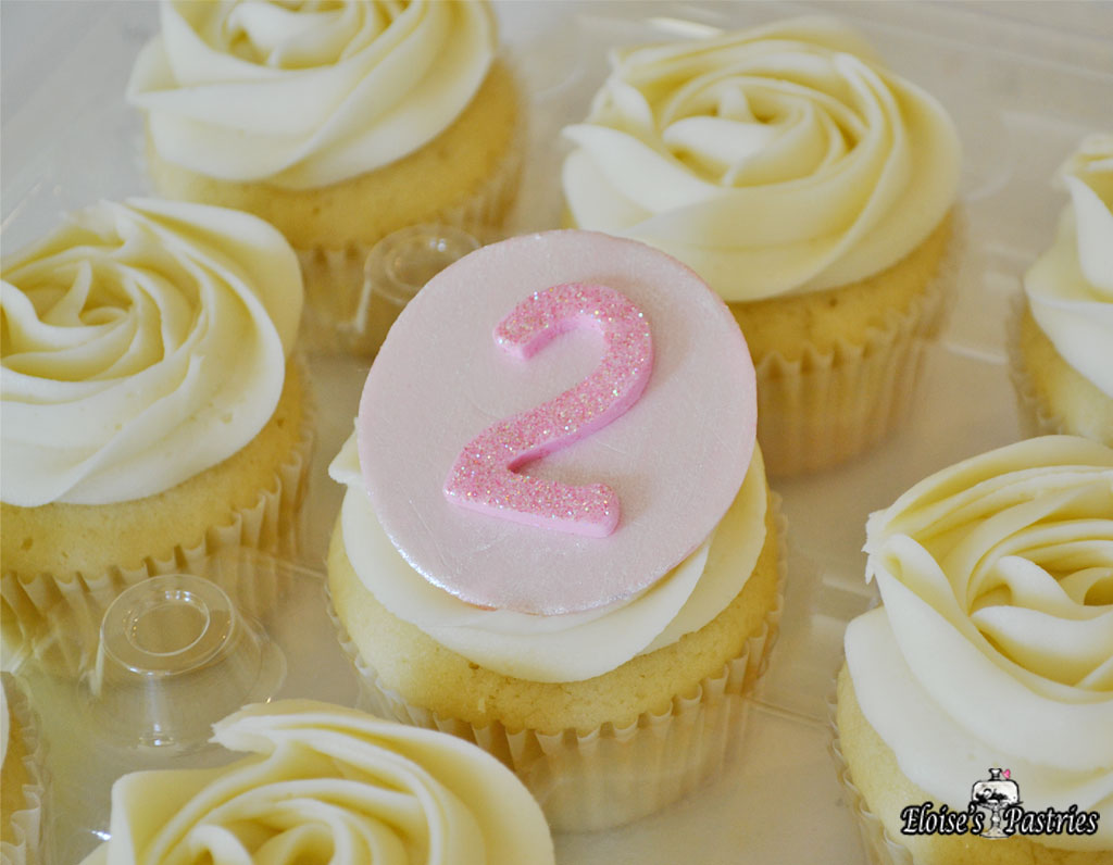Monogrammed Numerical Cupcakes