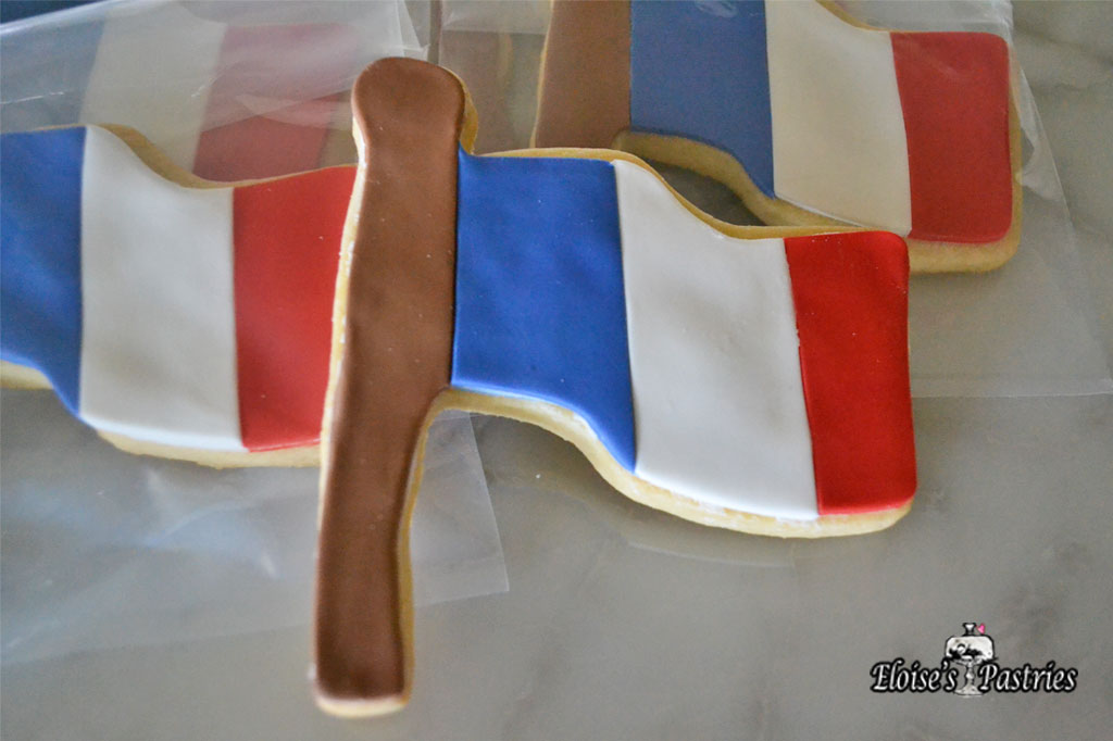 French Flag Cookies