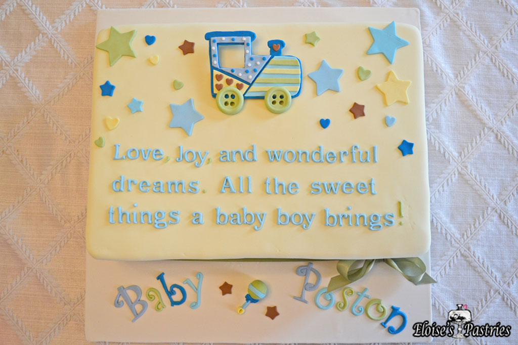 Nursery Rhyme Baby Shower Cake