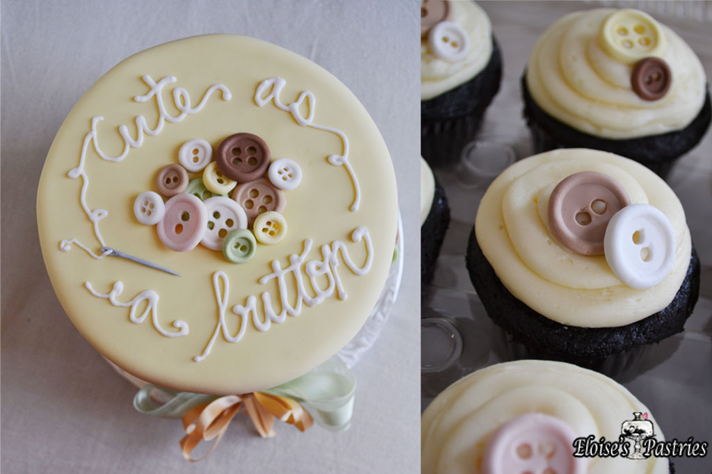 Cute As A Button Baby Shower Cupcakes