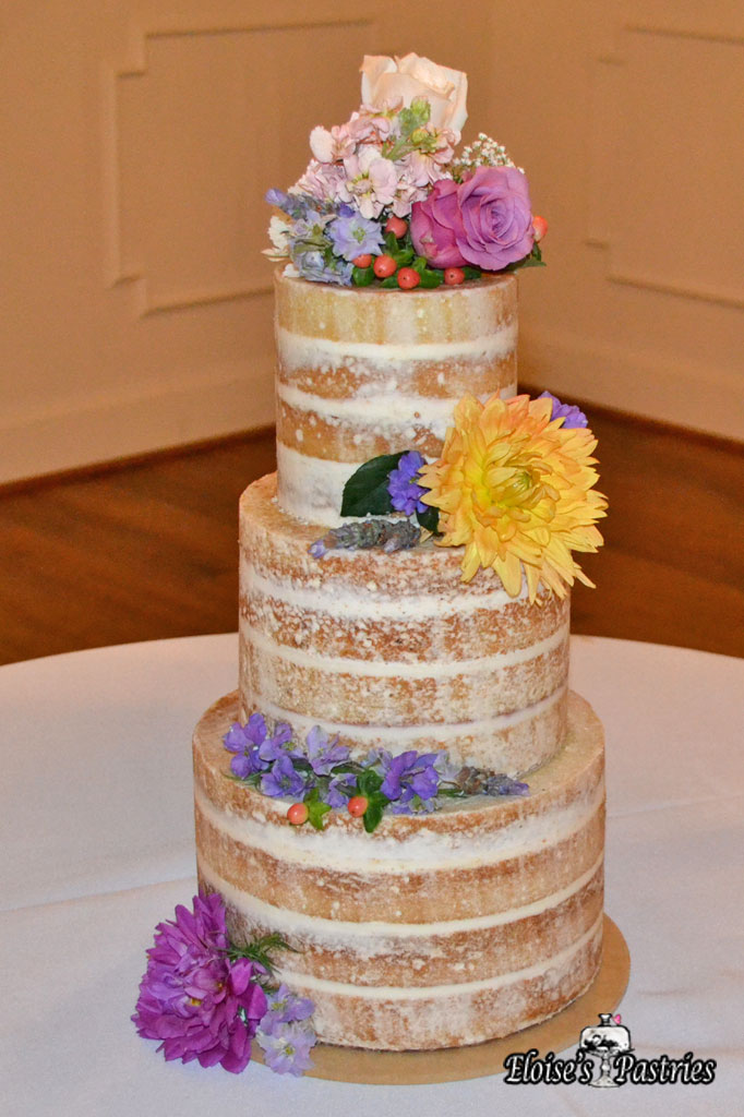 Simple Floral Naked Cake