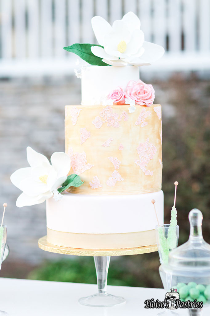 Floral Two-Toned Cake