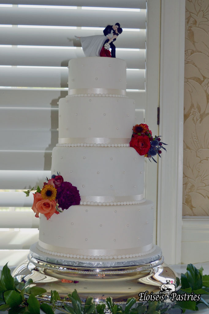 Simple White Quilt Textured Cake