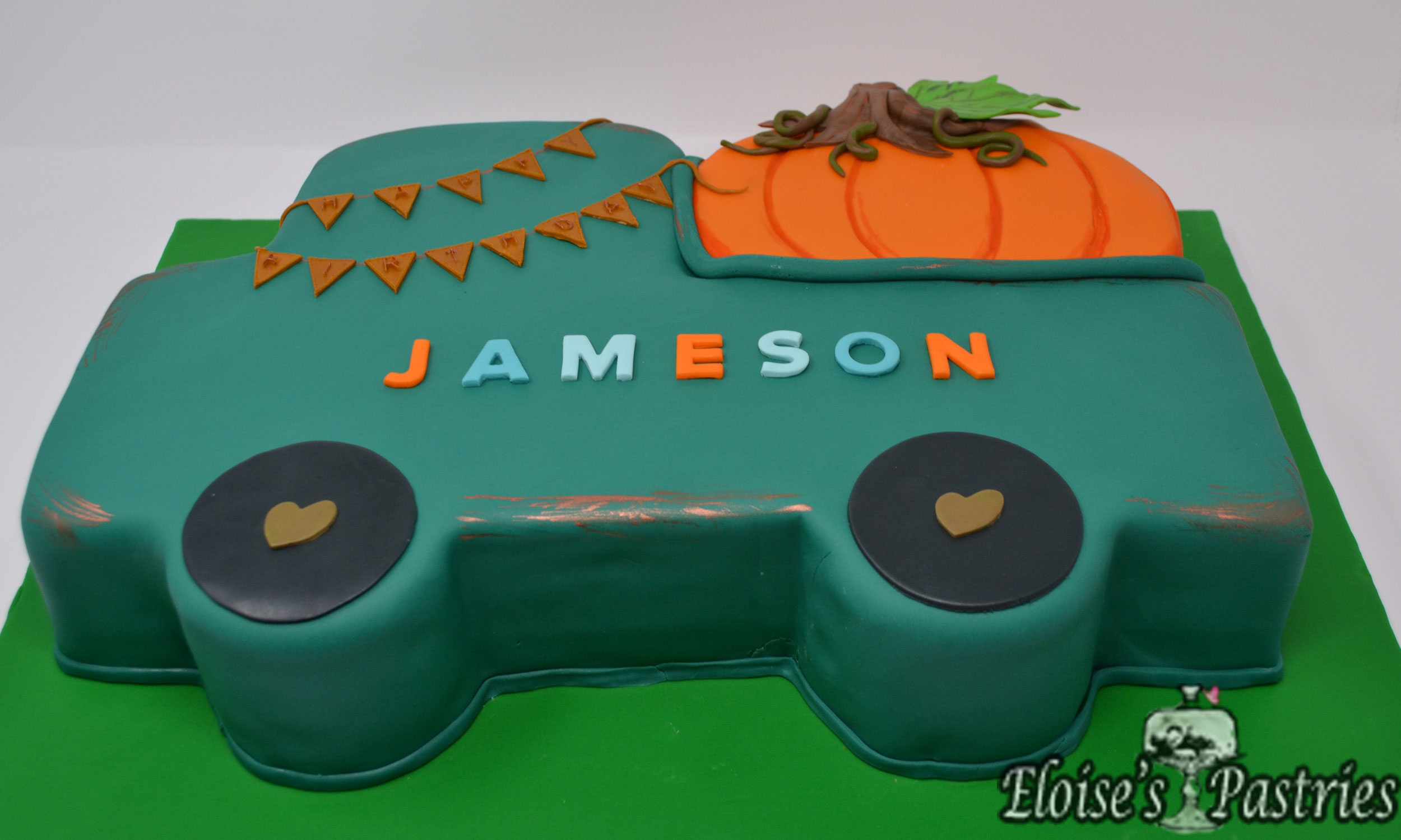 Fall Truck- Themed Birthday Cake