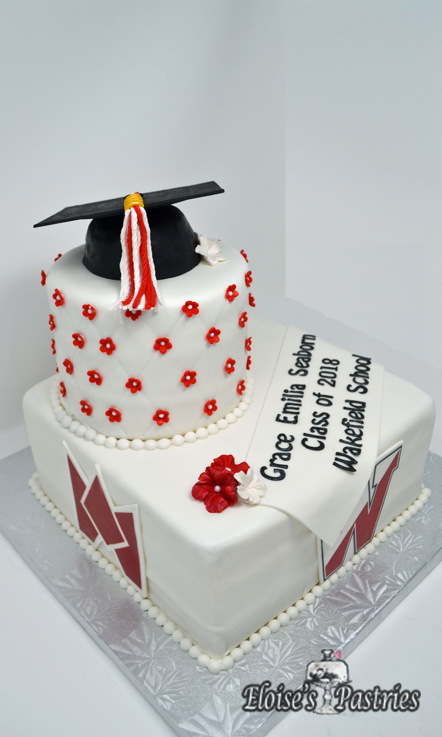 Two Tier Graduation Cake for Her