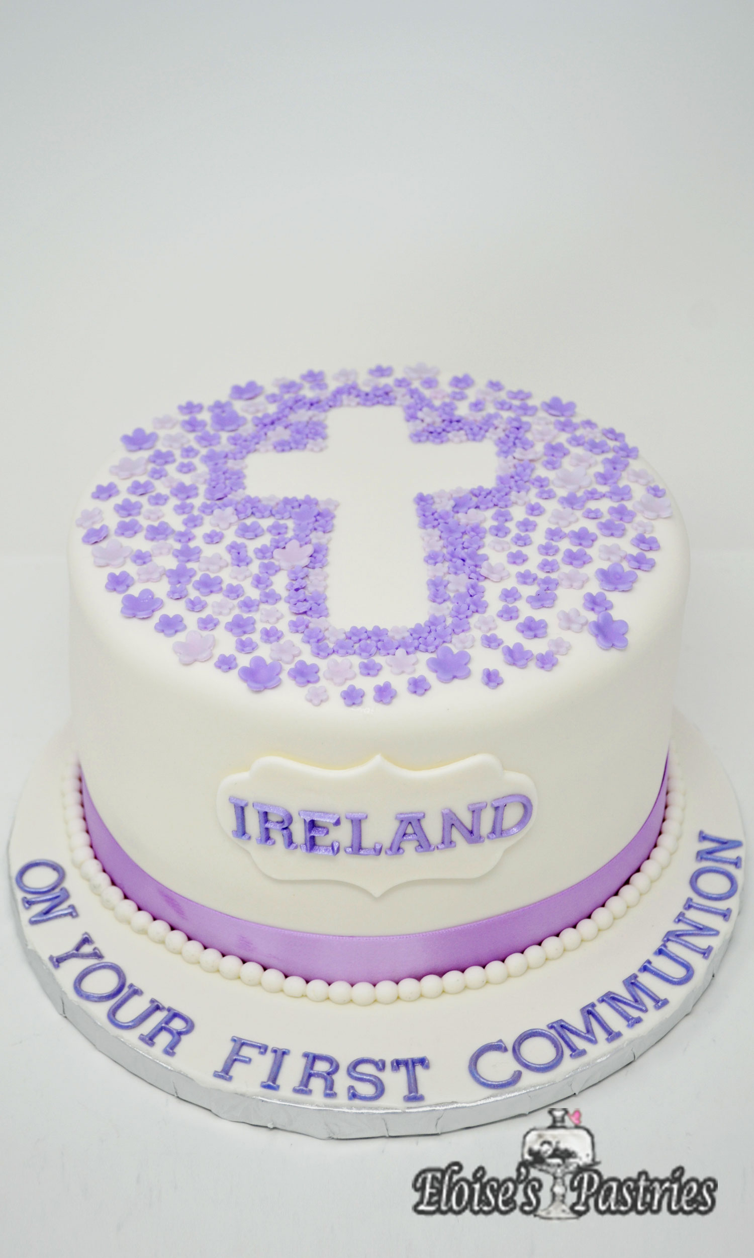 Purple First Communion Cakes for Her