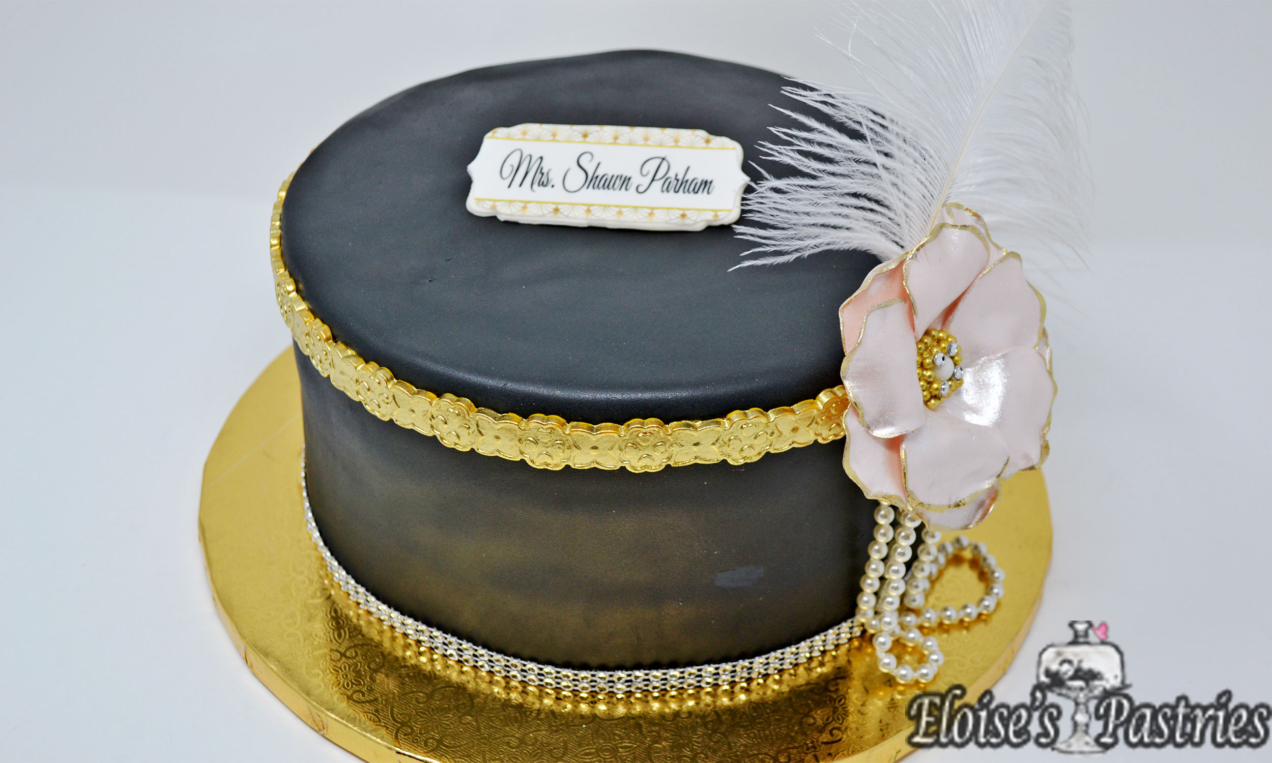 Great Gatsby Bridal Shower Cake
