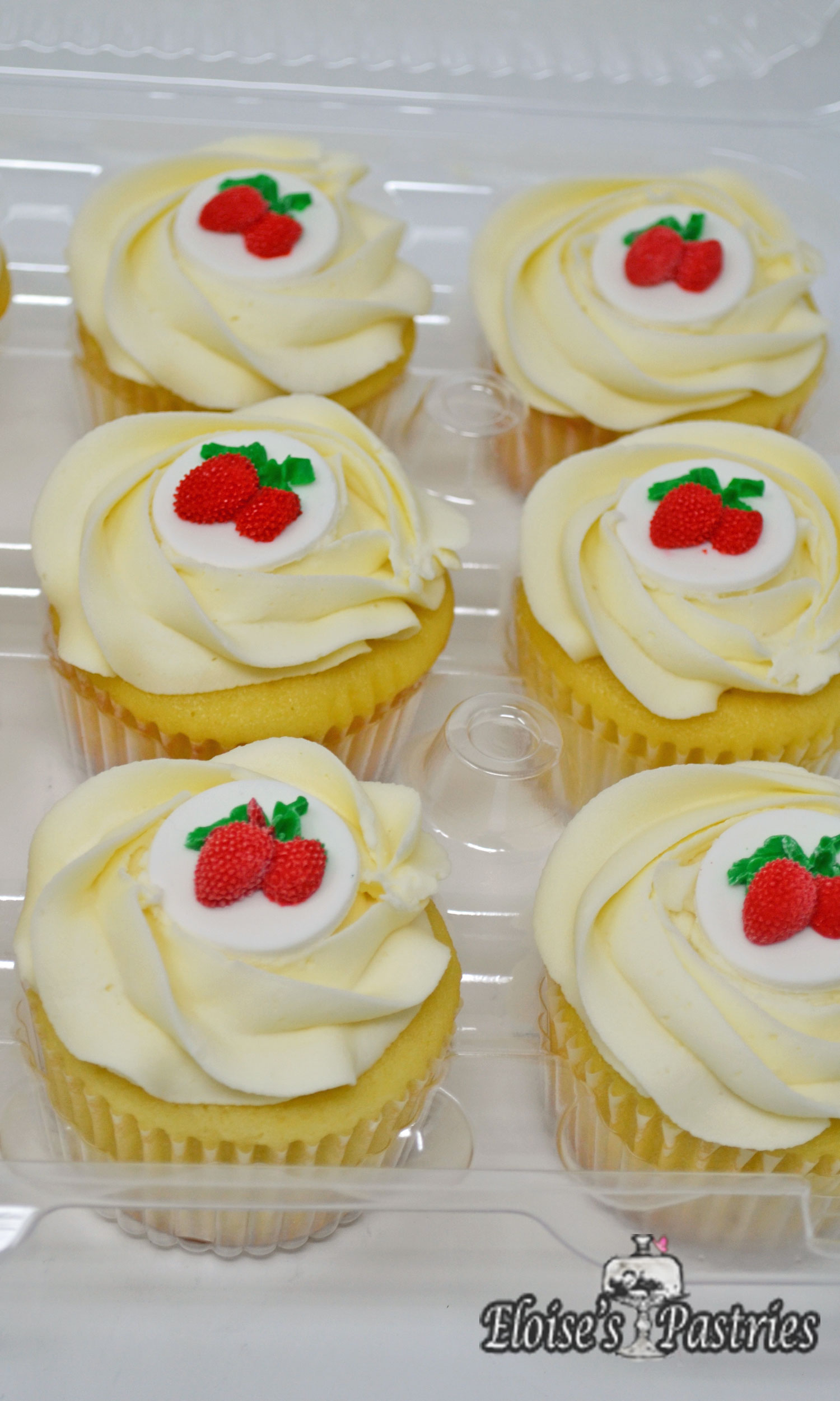 Summer's Strawberry Adorned Cupcakes