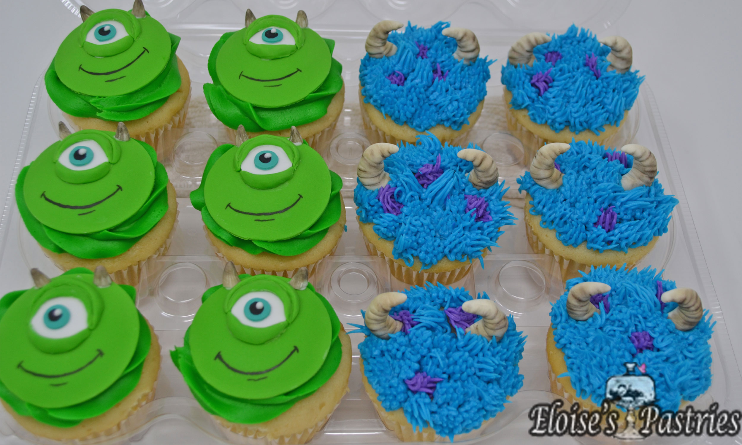 Monster's Inc Mike & Sully Cupcakes