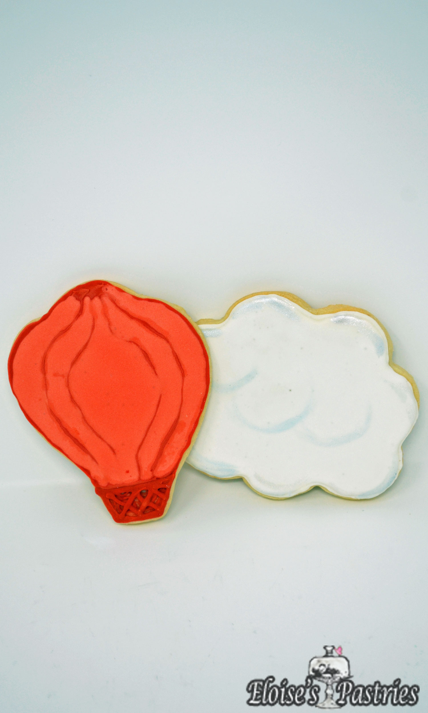 Birthday Cookies—Clouds and Hot Air Balloons