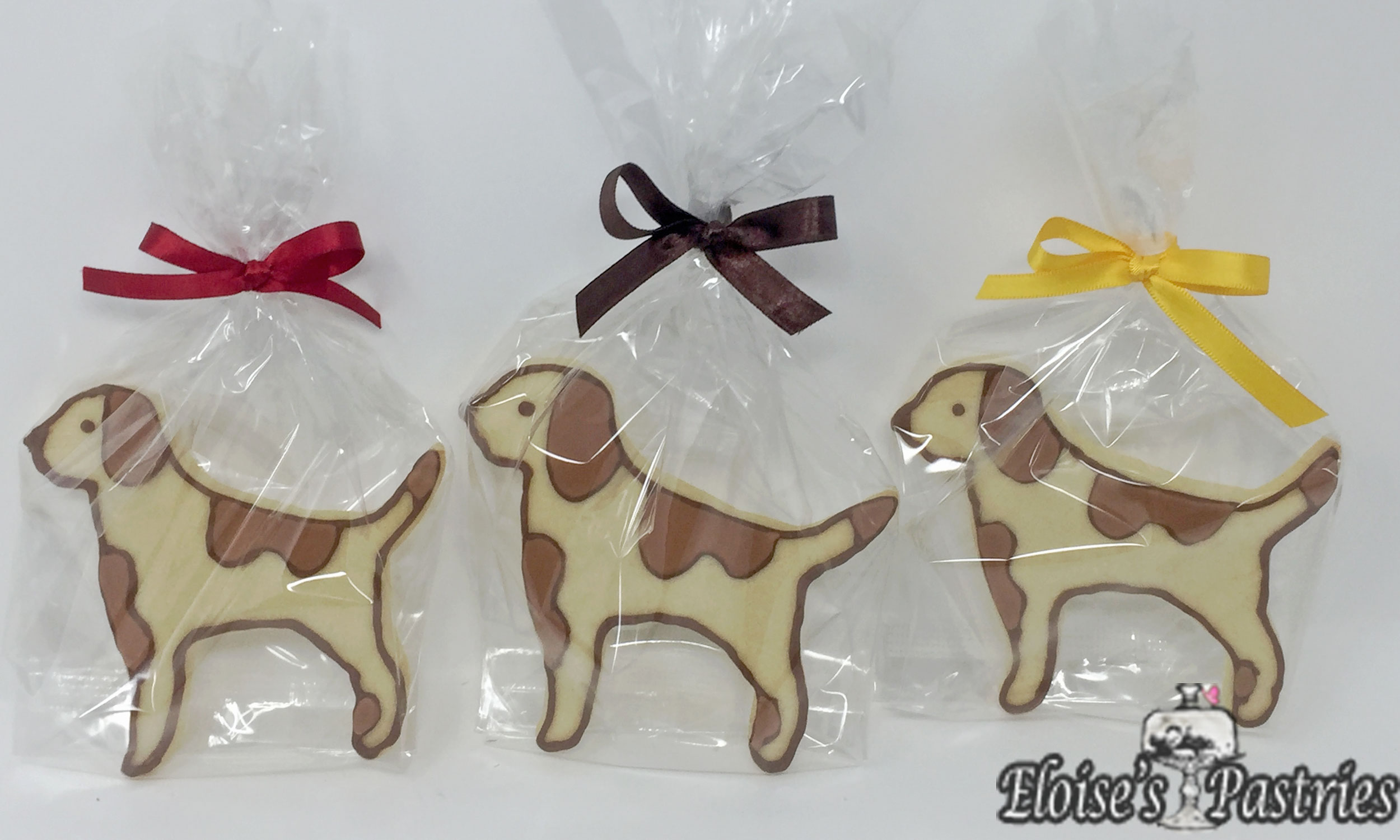 Decorated Dog Cookie Favors