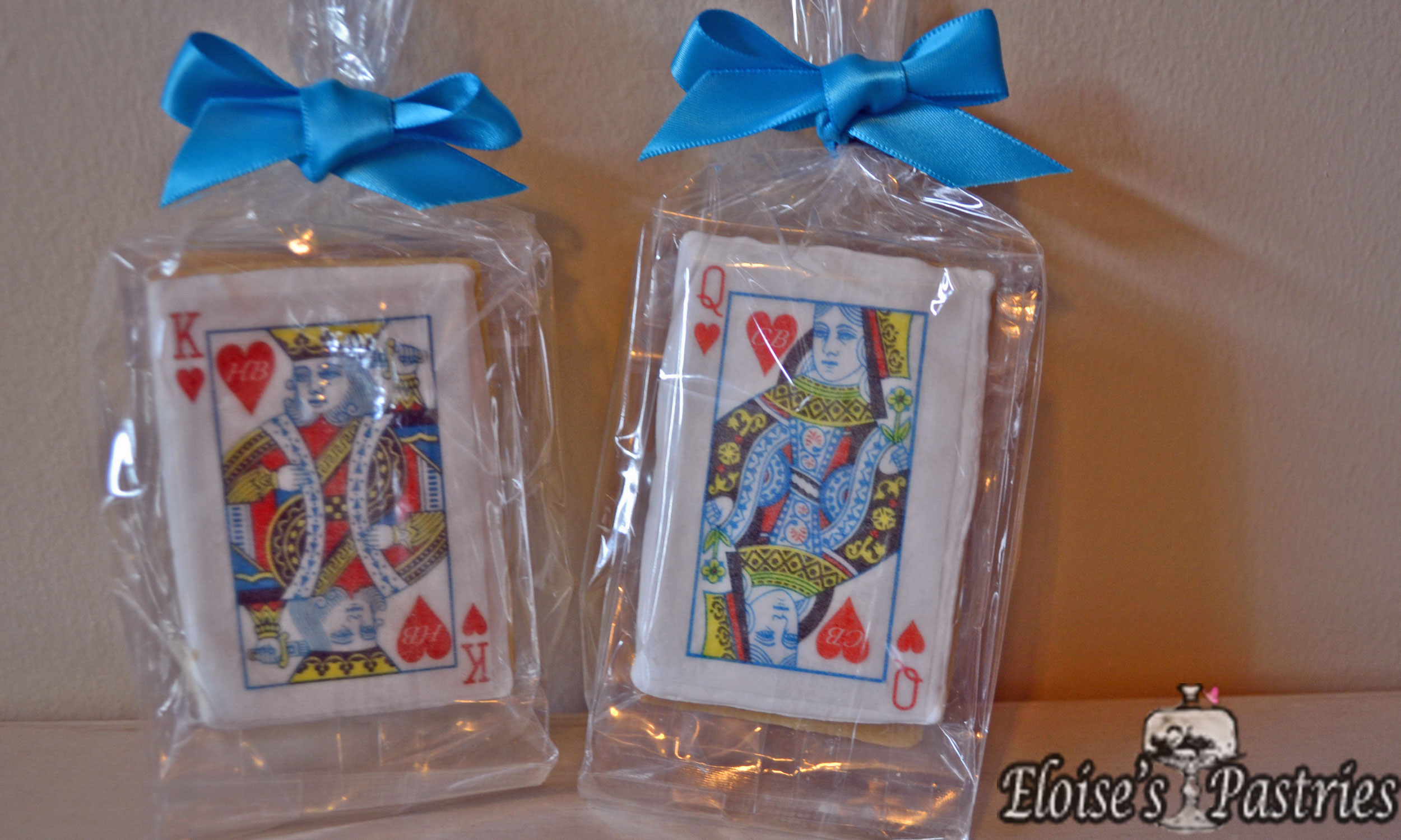 Card Decorated Cookie Favors -- Poker Cookie Favors