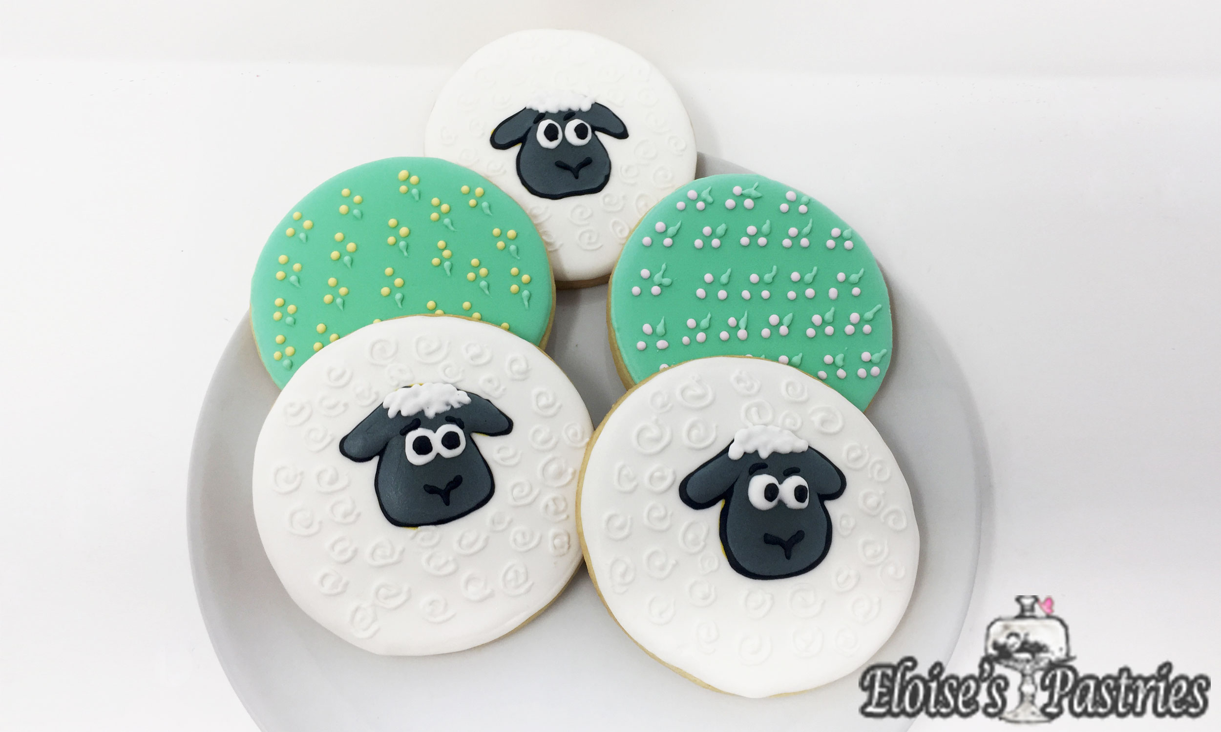Easter Cookies—Easter Egg Sheep and Easter Egg Cookies