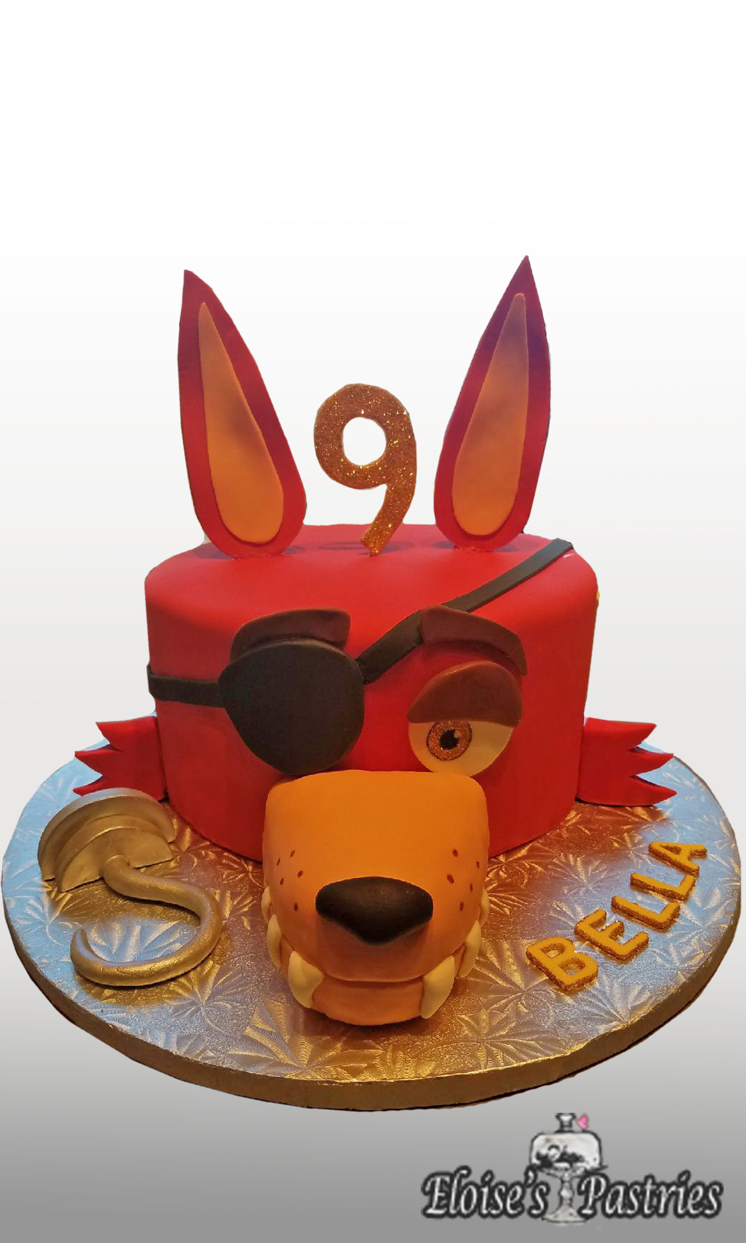Foxy Birthday Cake - Five Nights At Freddie's Cake