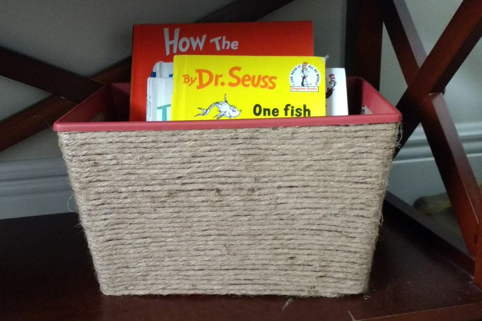 Beneath the Crust: diy jute basket