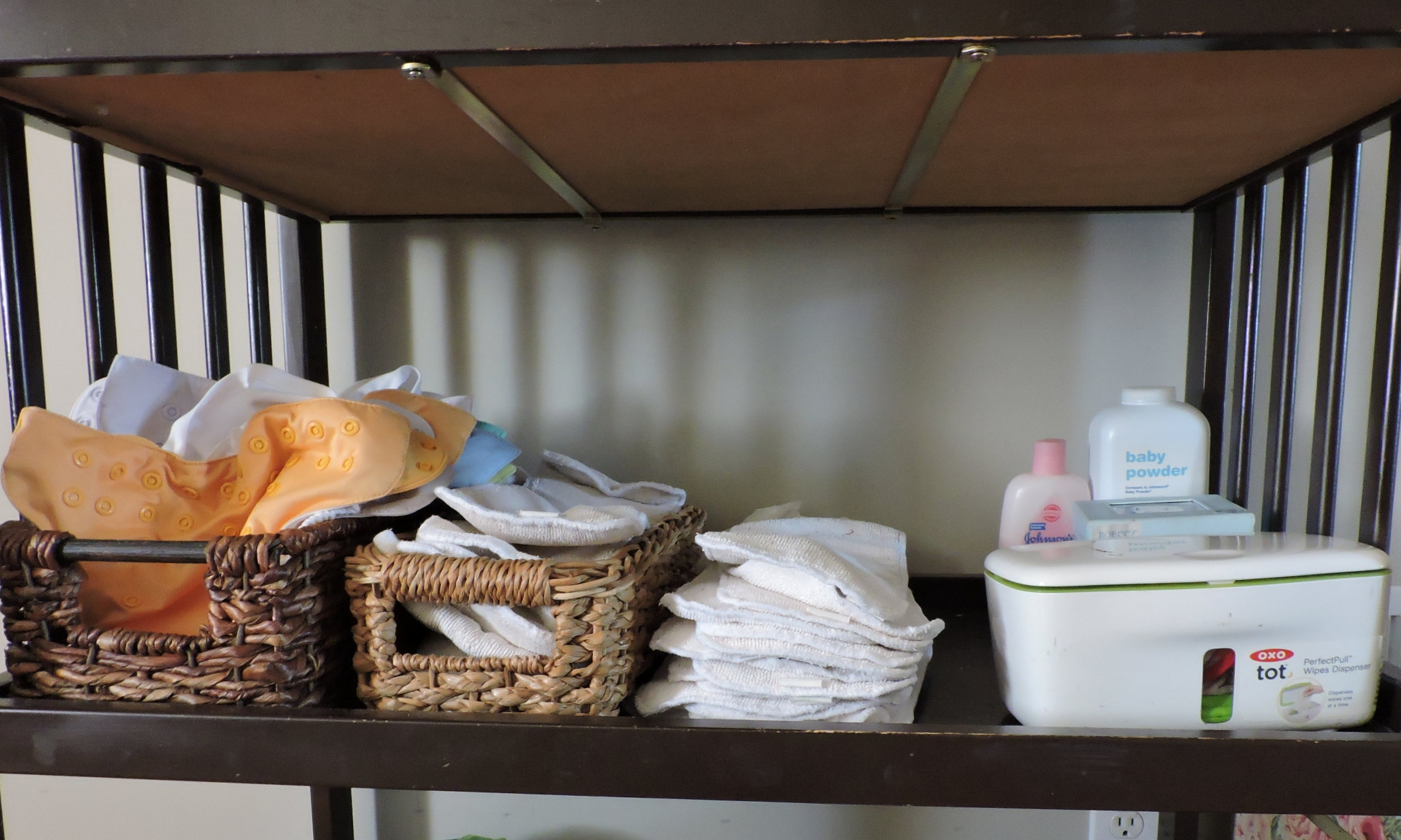 Having an efficient and attractive place for keeping the diapers is a huge plus.