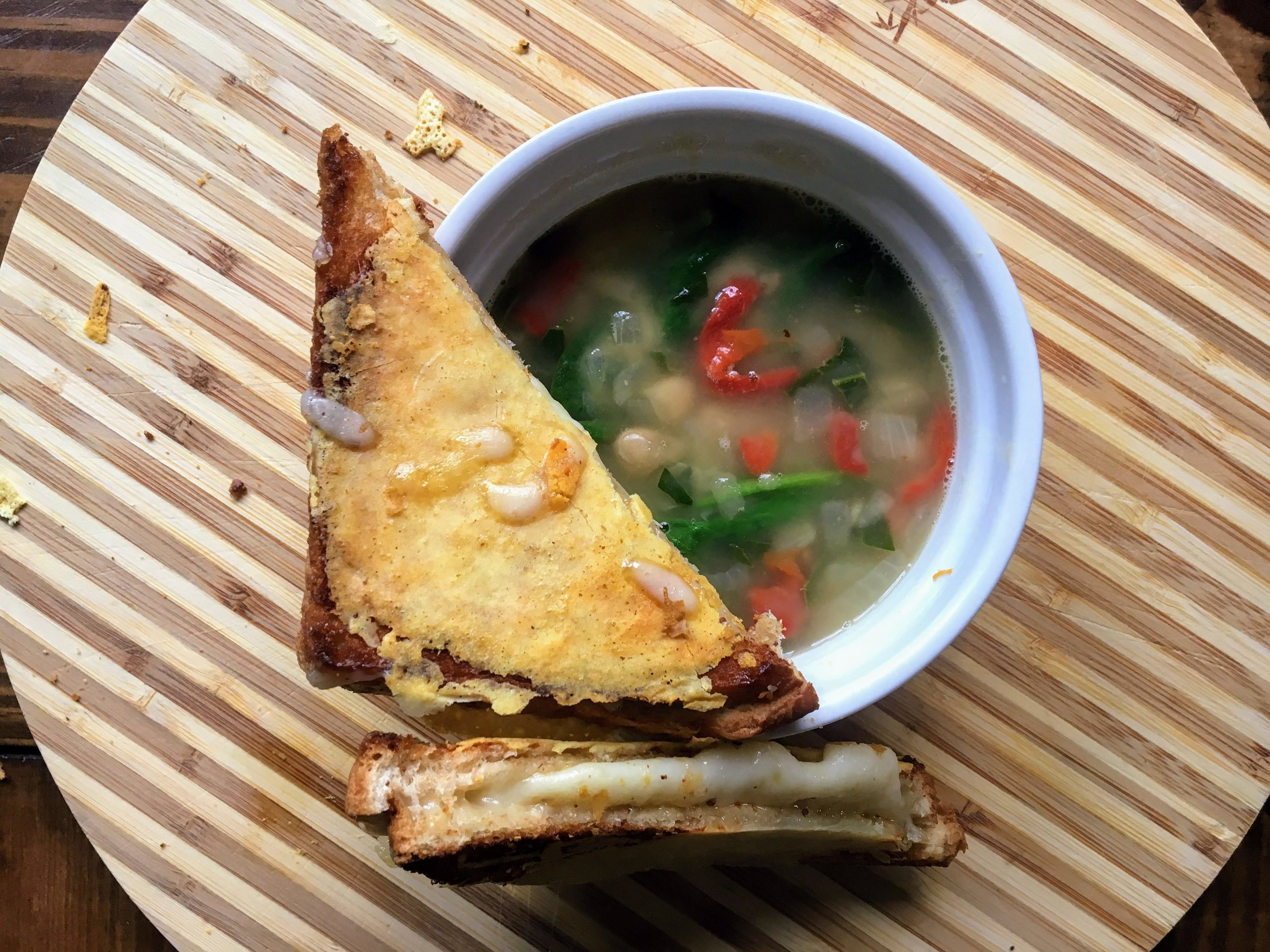 Beneath the Crust: White Bean and Spinach Soup