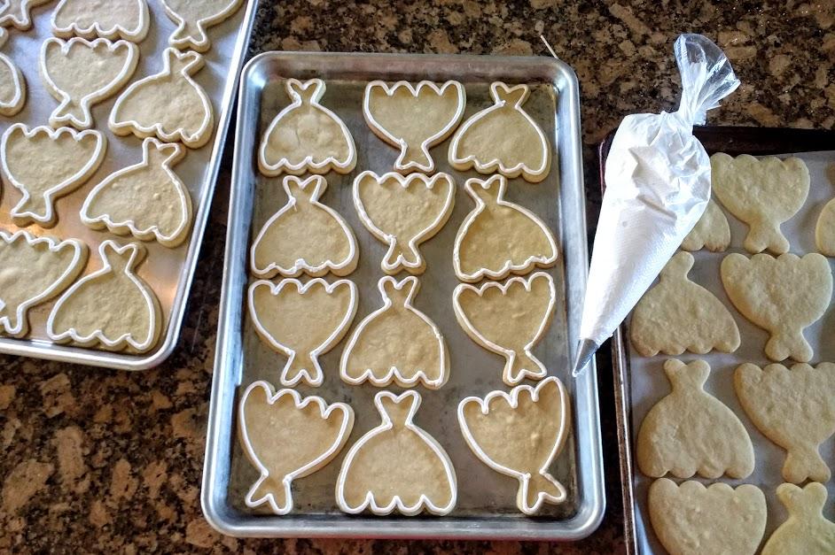 Beneath the Crust: Iced Wedding Dress Sugar Cookies