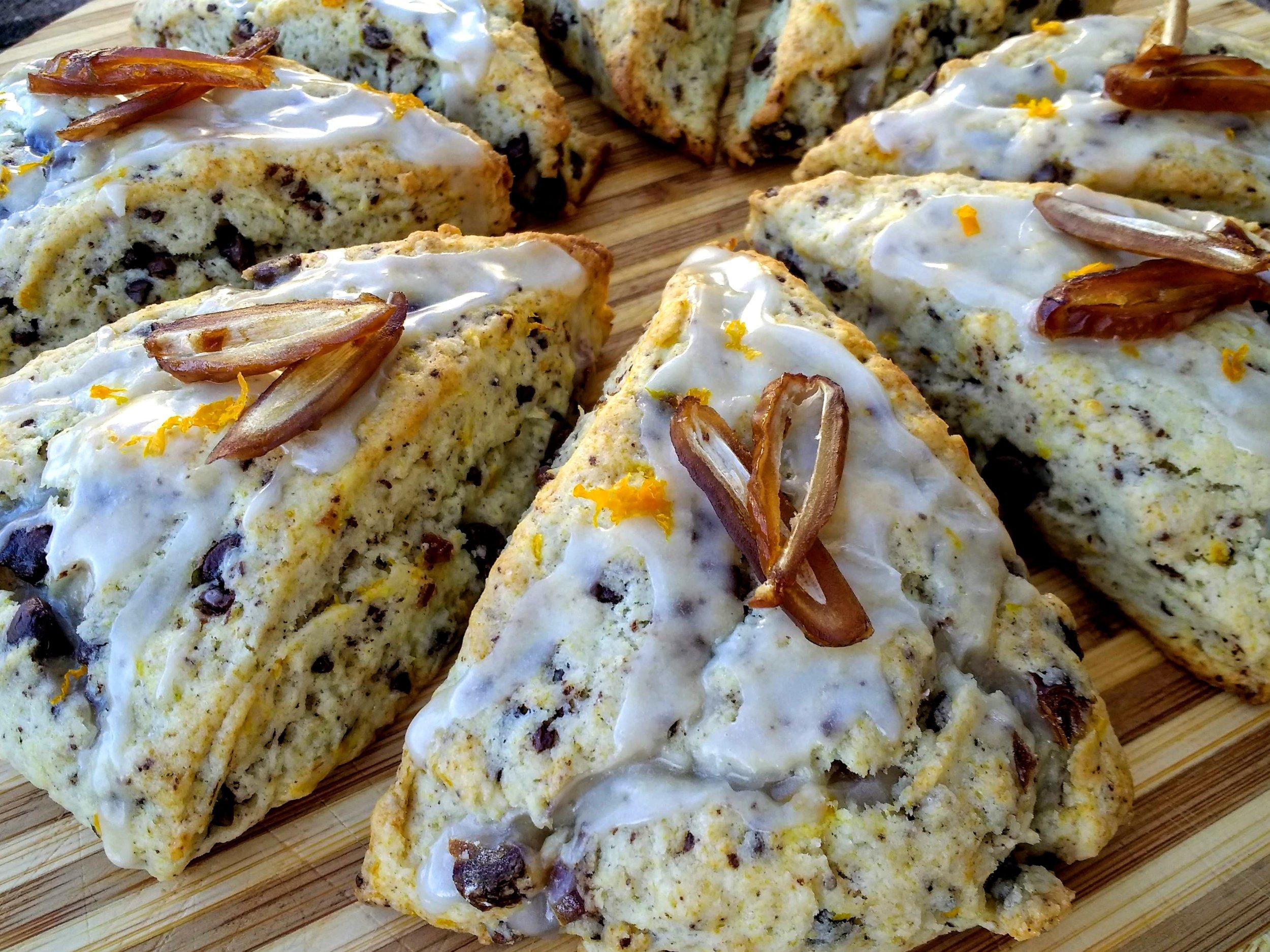 Breakfast week! Beneath the Crust: Chocolate, Orange and Date Scones