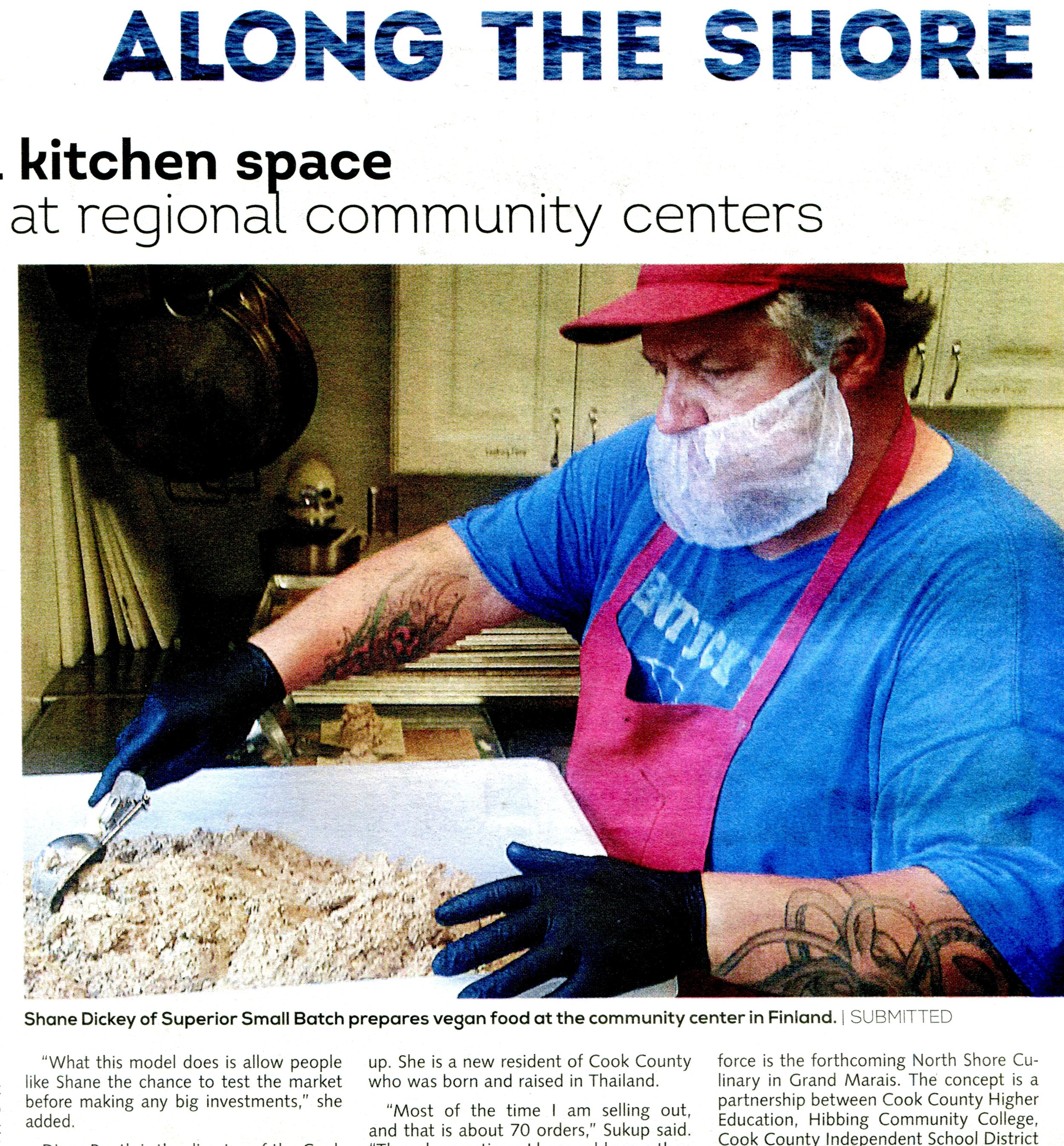 Check out the article in the  October 2018 edition of  Northern Wilds     on Superior Small Batch's relationship with the wonderful  Clair Nelson Community Center  in Finland, MN.