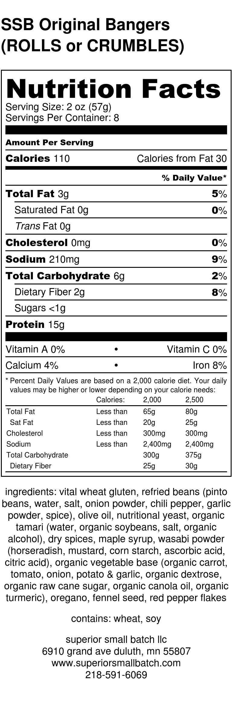 SSB Original Bangers (ROLLS or CRUMBLES) - Nutrition Label.jpg