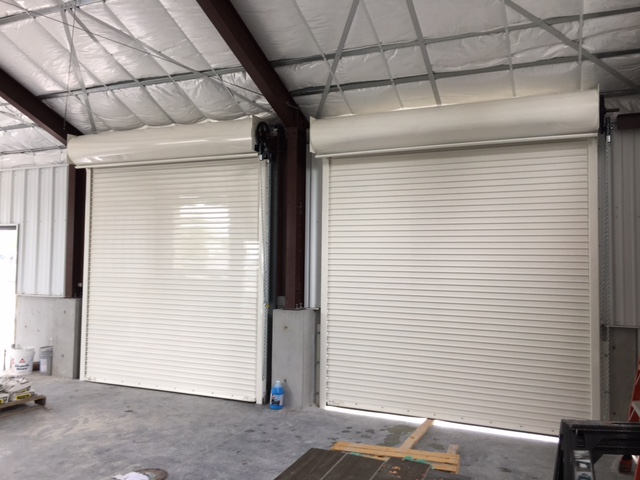 wind rated powder coat roll up door