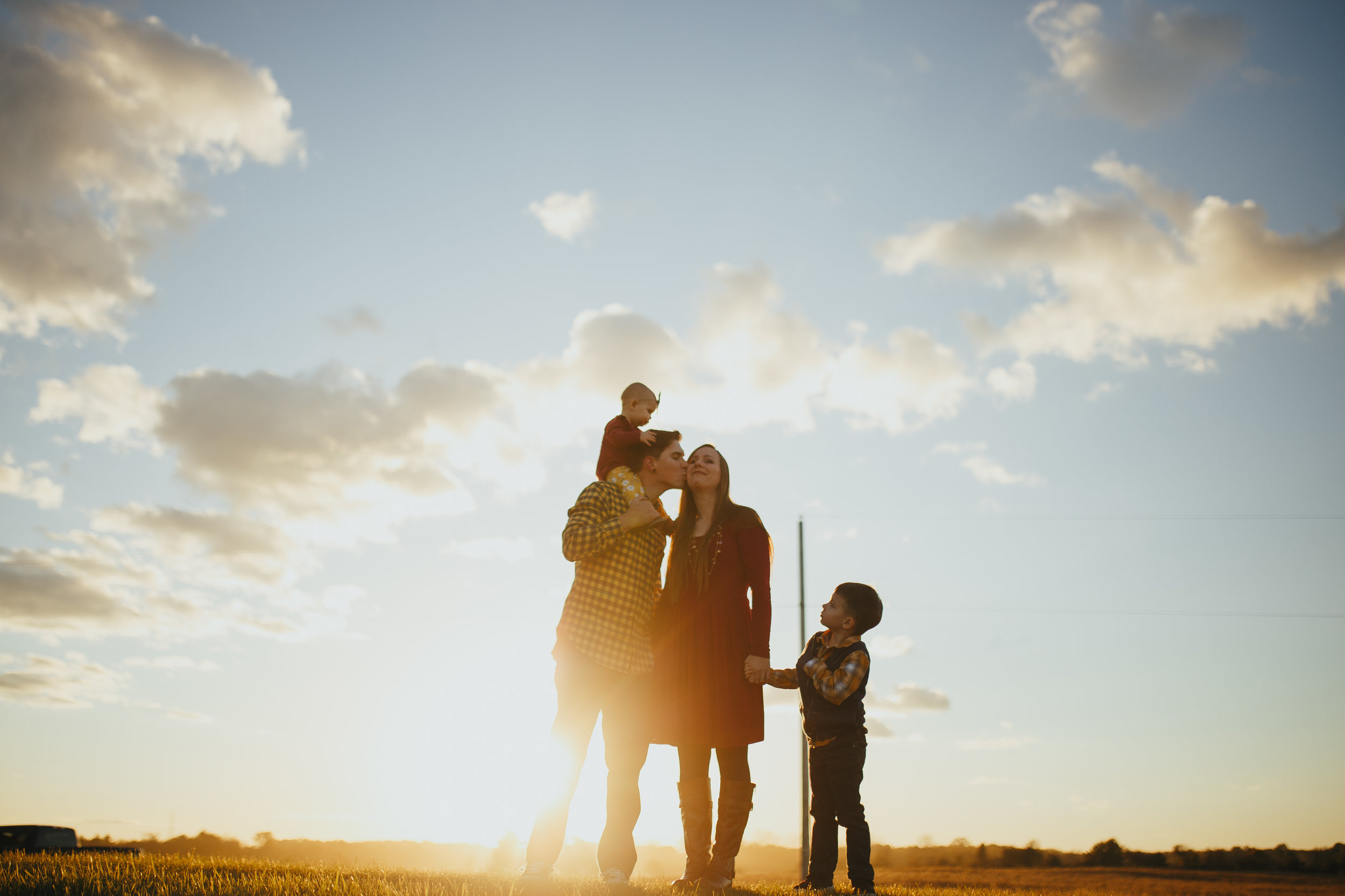 Your crazy family - and some gorgeous light, it's all we need.