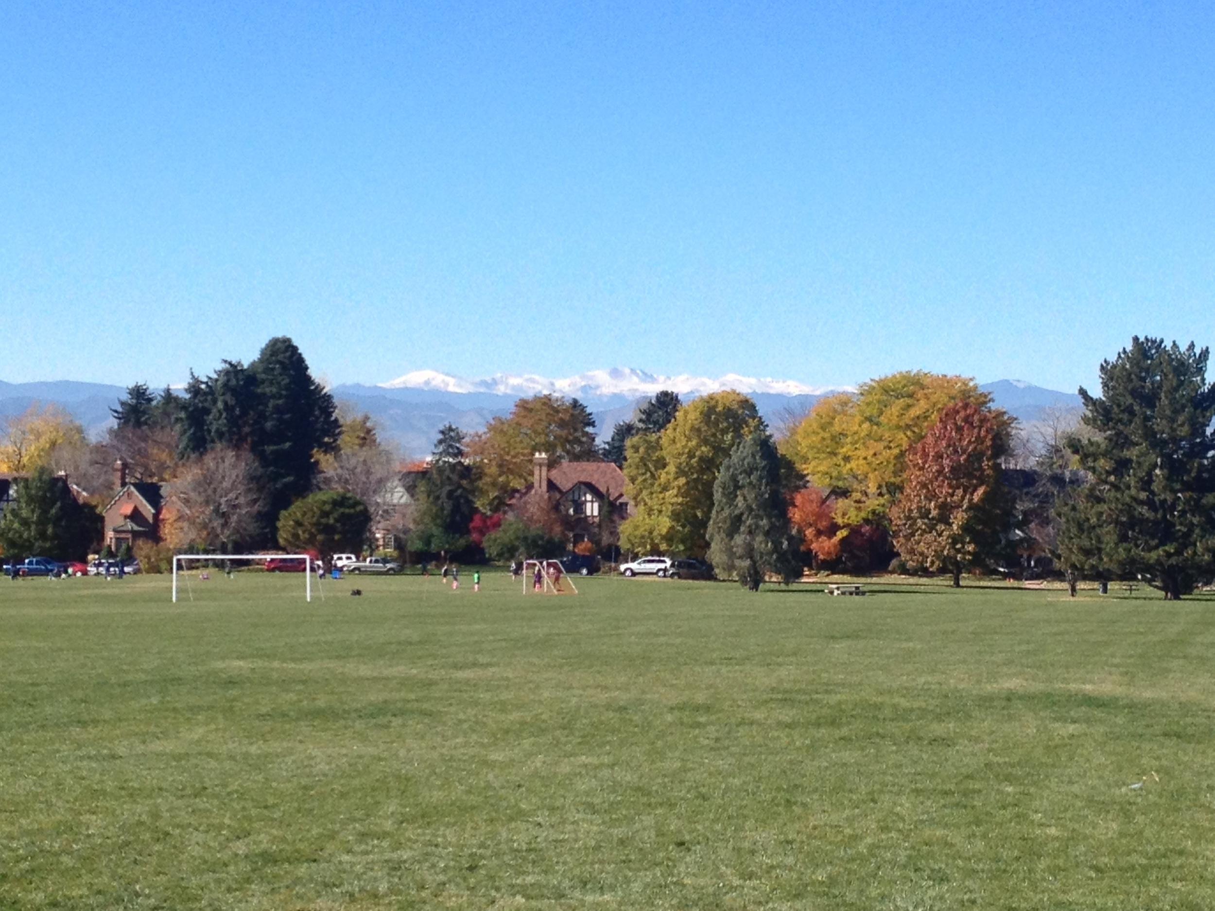 Gorgeous fall Saturday in Colorado.