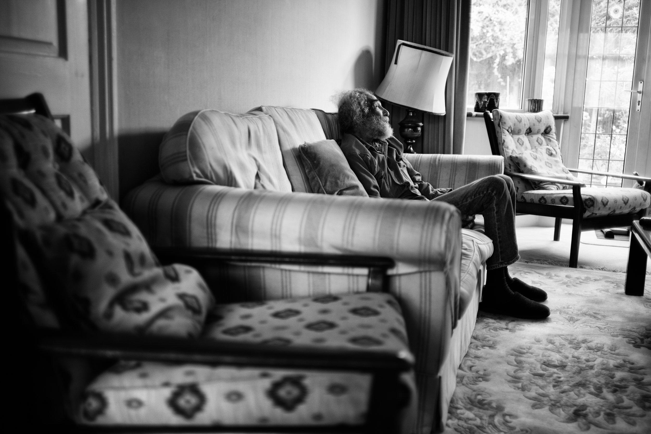 Barry in his living room. Barnet, London. (07.08.17)