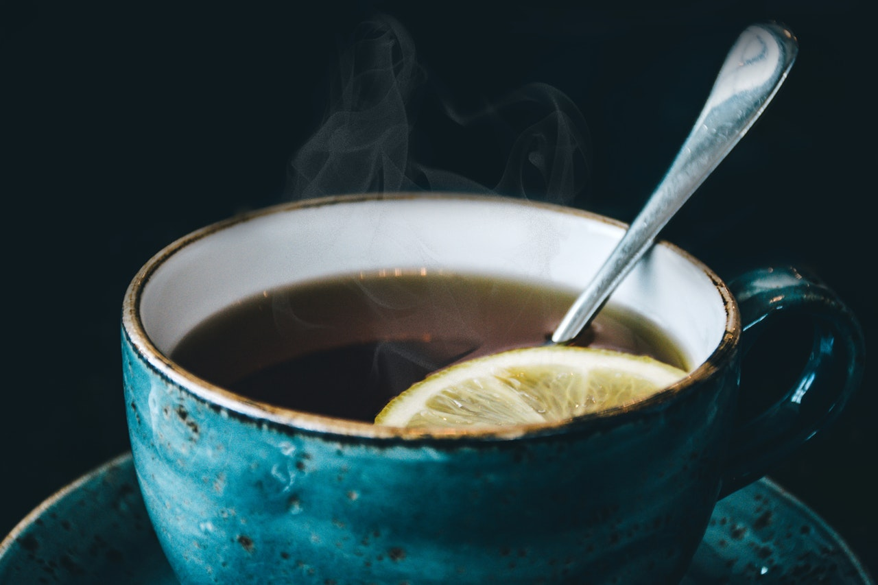 cup of steaming tea