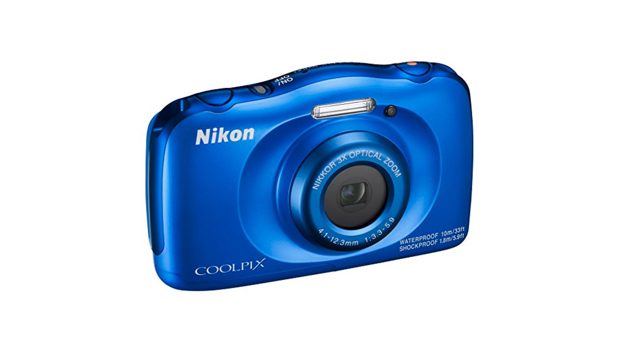 Blue nikon Coolpix W100